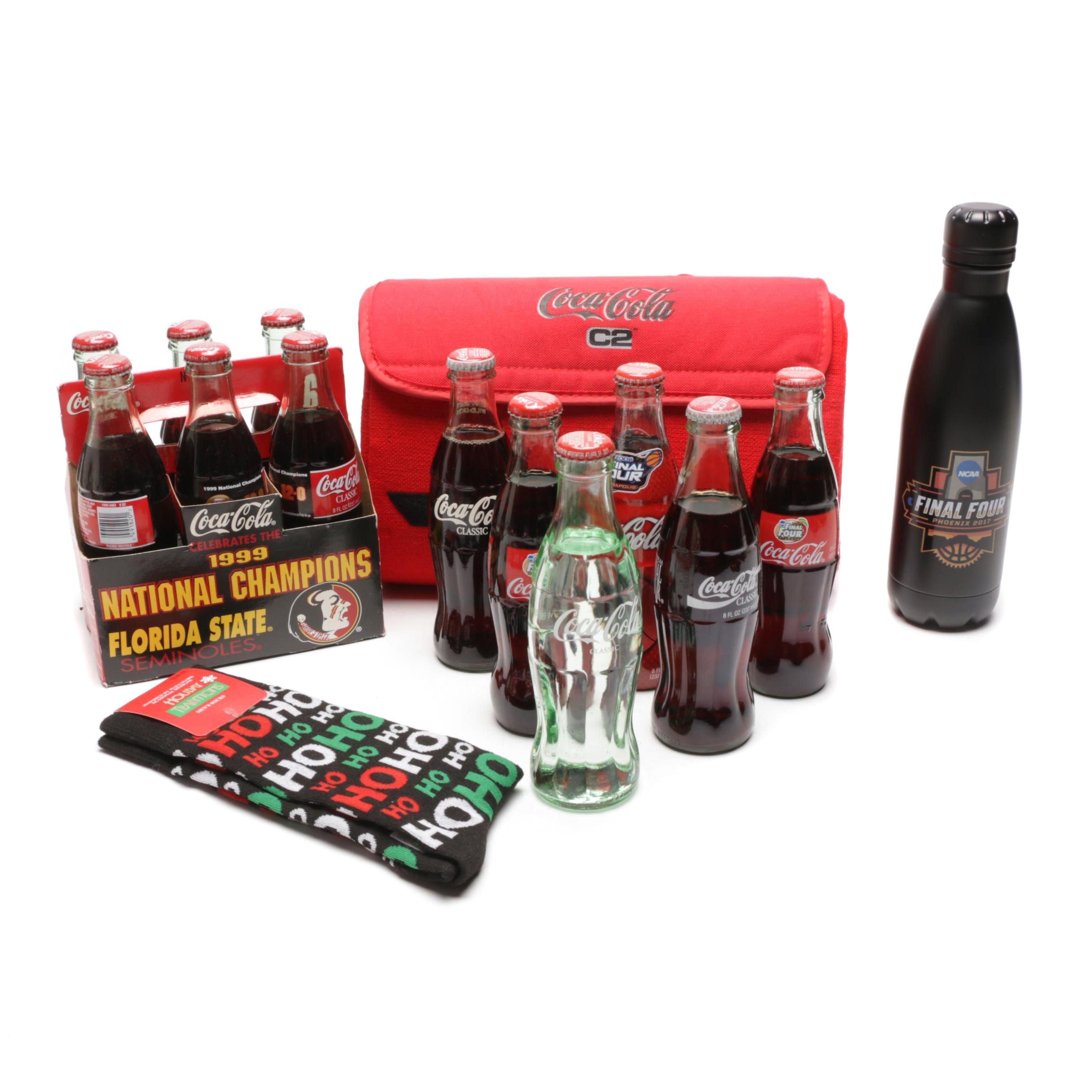Coke Final Four, Football & Alli Commemorative Bottles and Bags