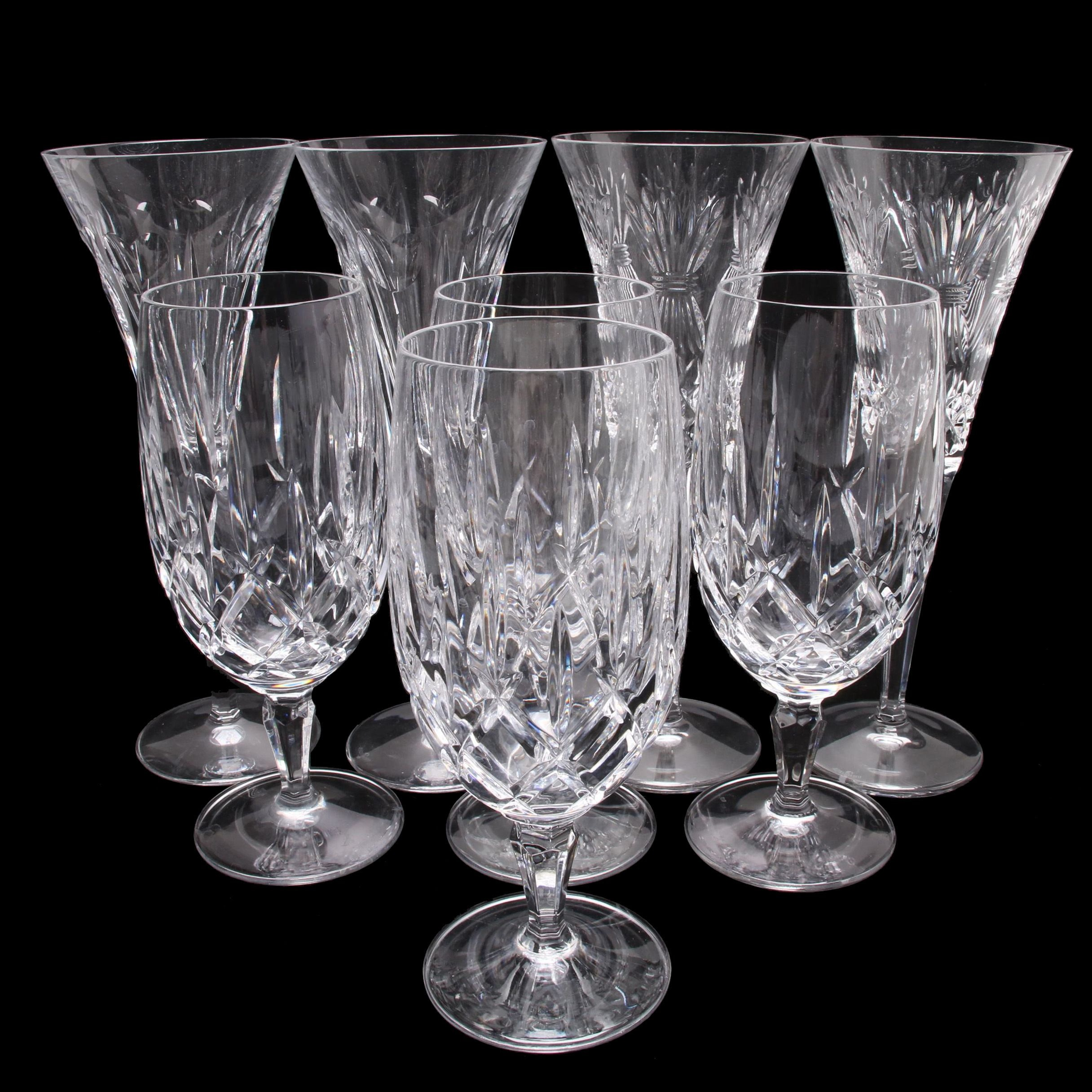 Waterford Crystal Millennium Toasting Flutes and Gorham Crystal Water Goblets