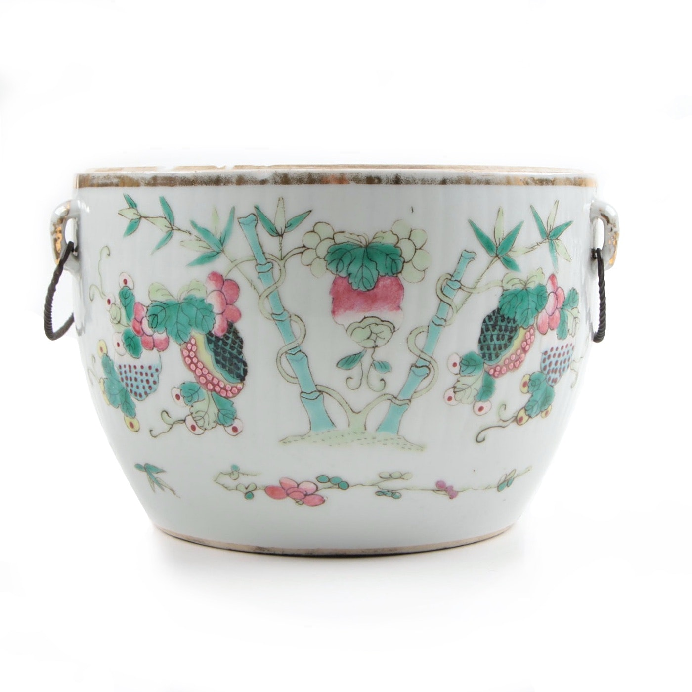 Chinese Famille Rose Biscuit Barrel, Late Qing/Republic