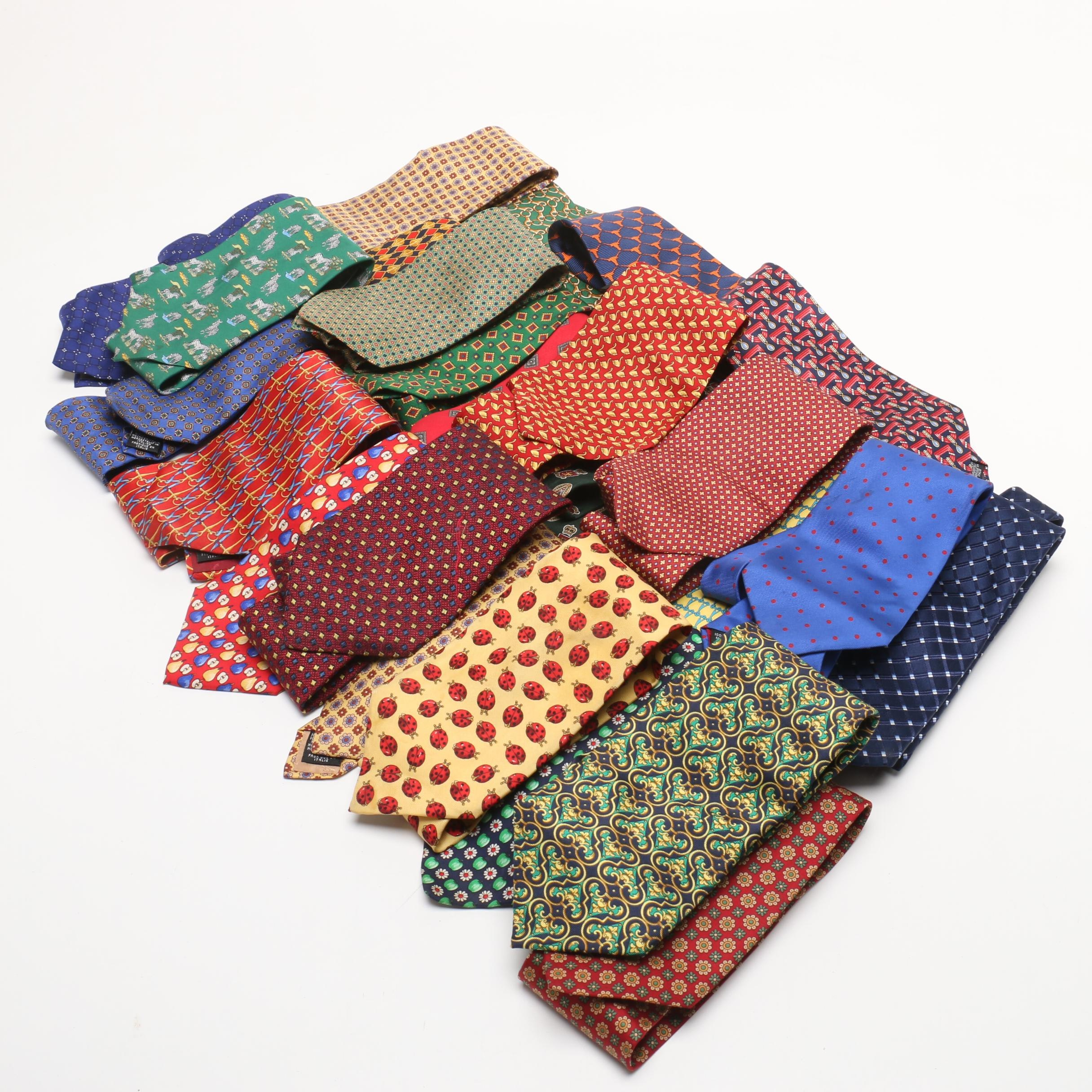 Men's Silk Neckties Including Tommy Hilfiger, Benjamin James and Kuppenheimer