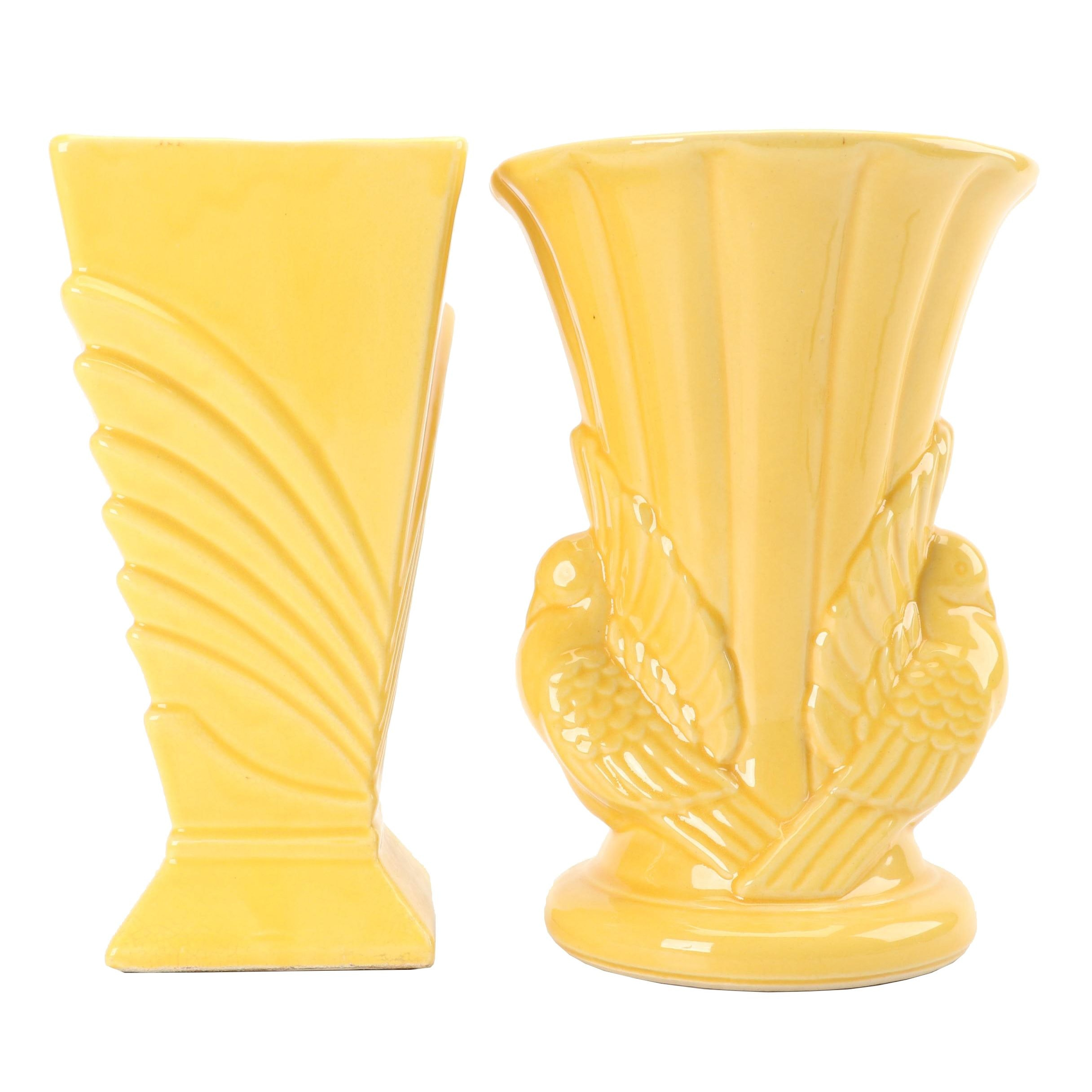 McCoy and Shawnee Vases, circa 1940