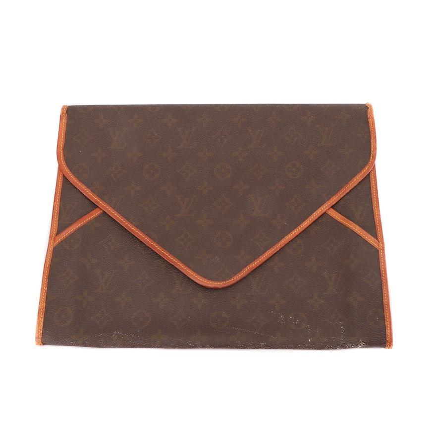 Louis Vuitton Monogram Canvas Envelope Clutch