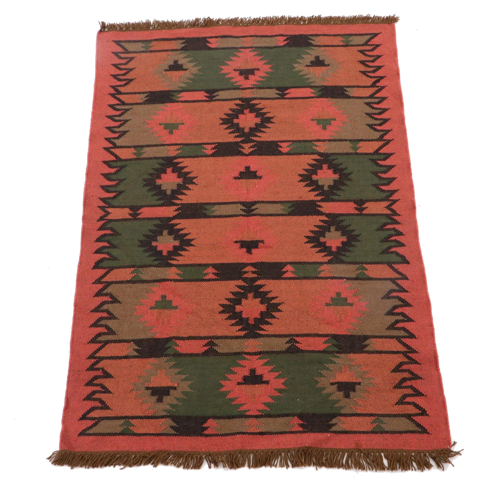 Handwoven Indian Wool Rug