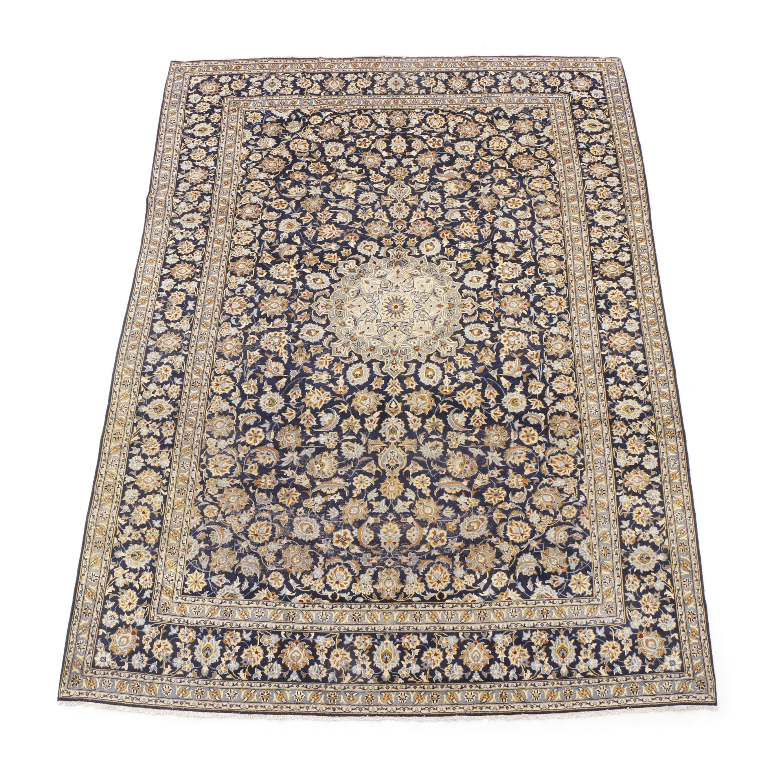 Hand-Knotted Persian Isfahan Room-Sized Rug