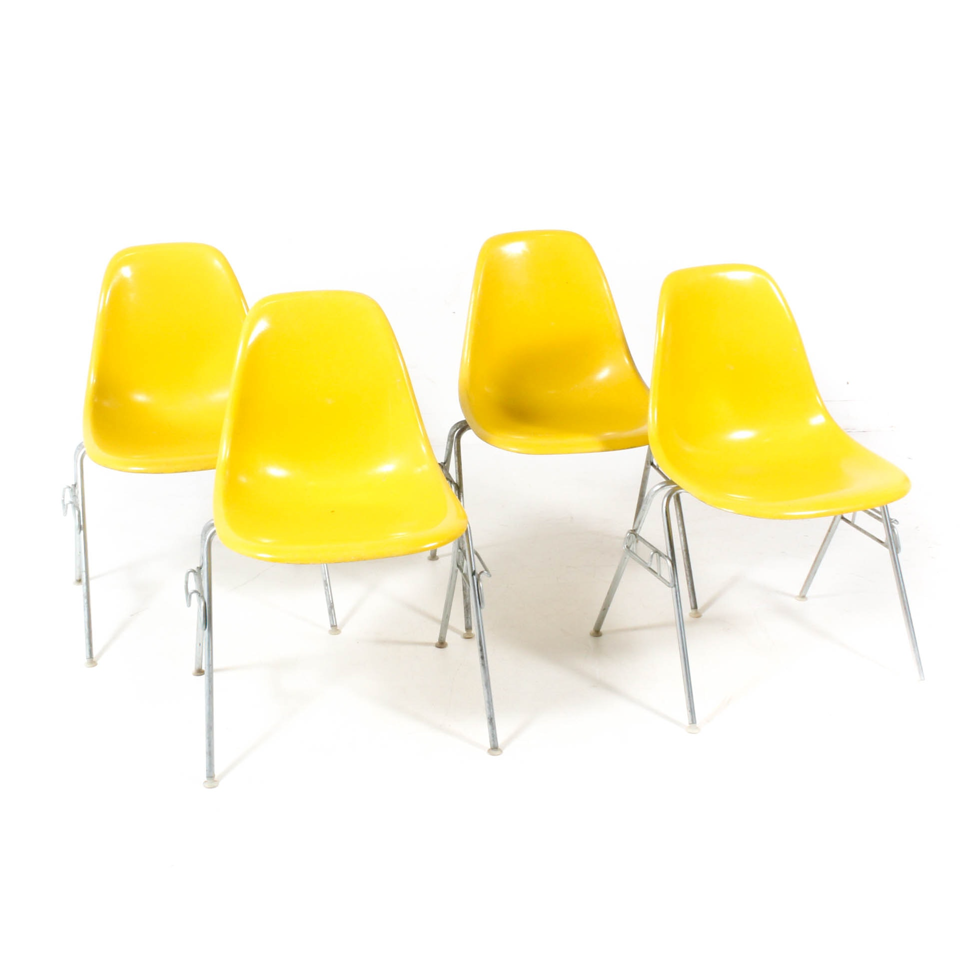 Eames for Herman Miller Molded Fiberglass Stacking Side Chairs