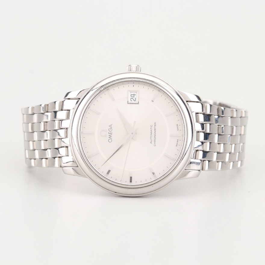 Omega Automatic Chronometer Stainless Steel Wristwatch
