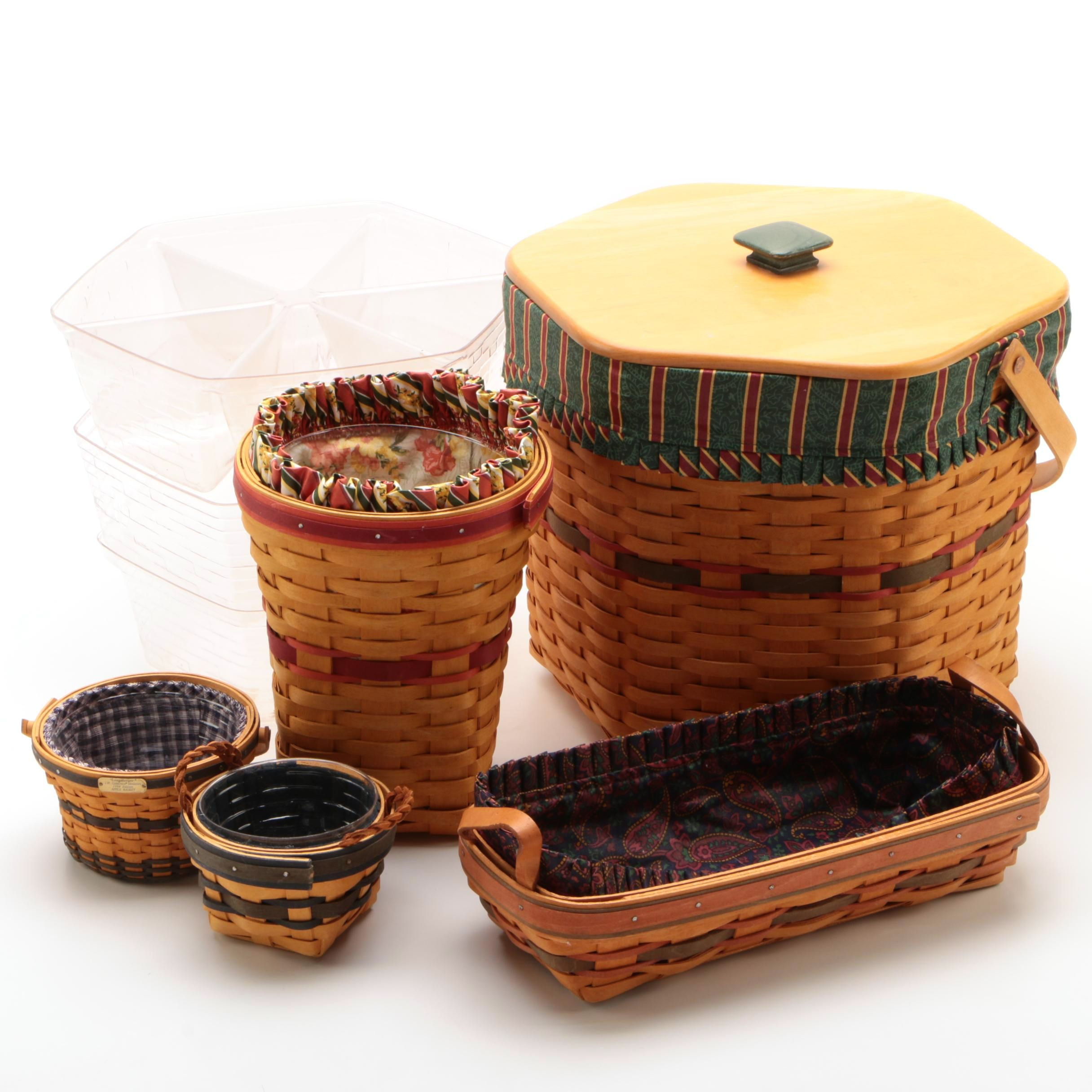 """Longaberger Baskets including """"Snapdragon"""" and Collectors Club Editions, 1990s"""