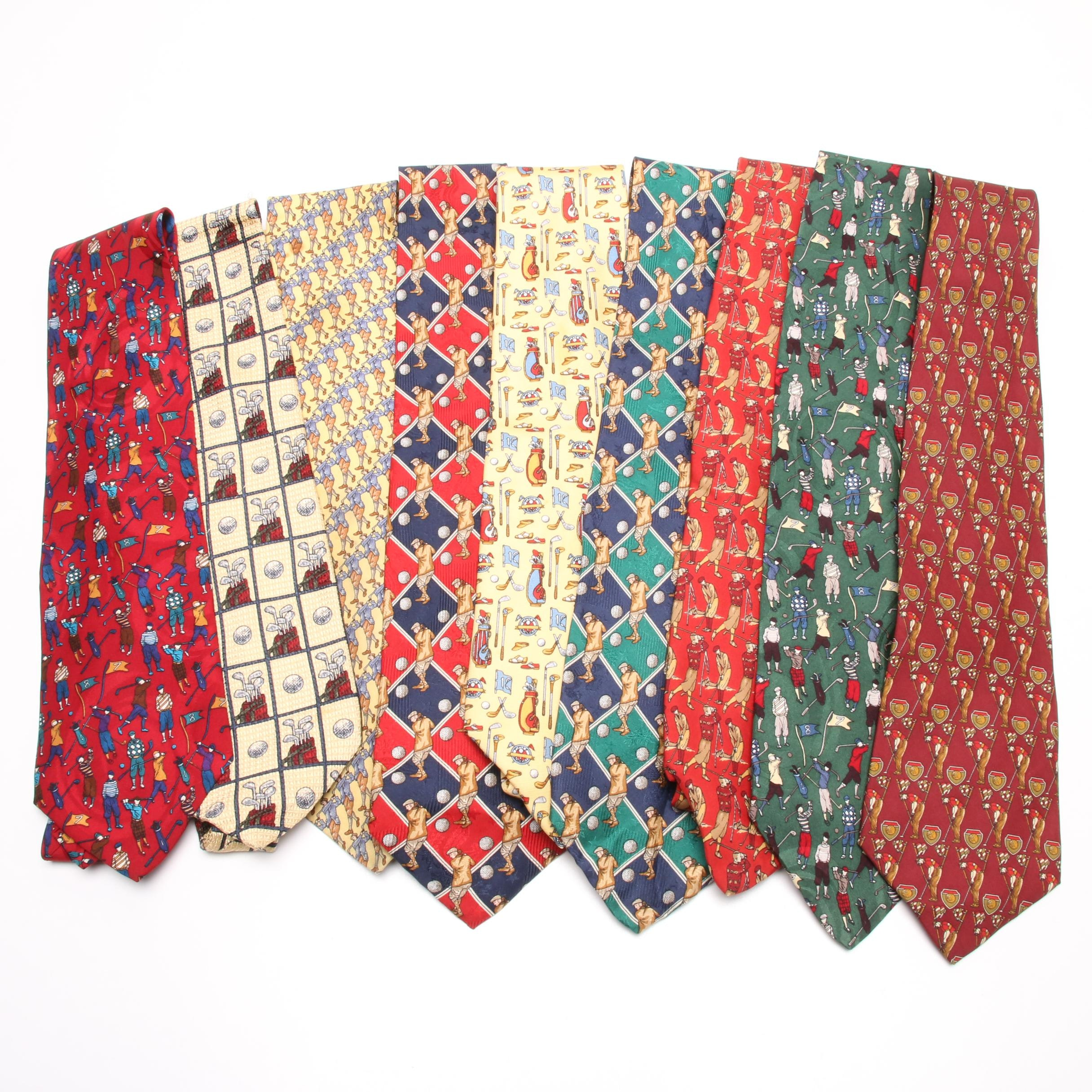 Silk Neckties Including Salvatore Ferragamo and Robert Talbott