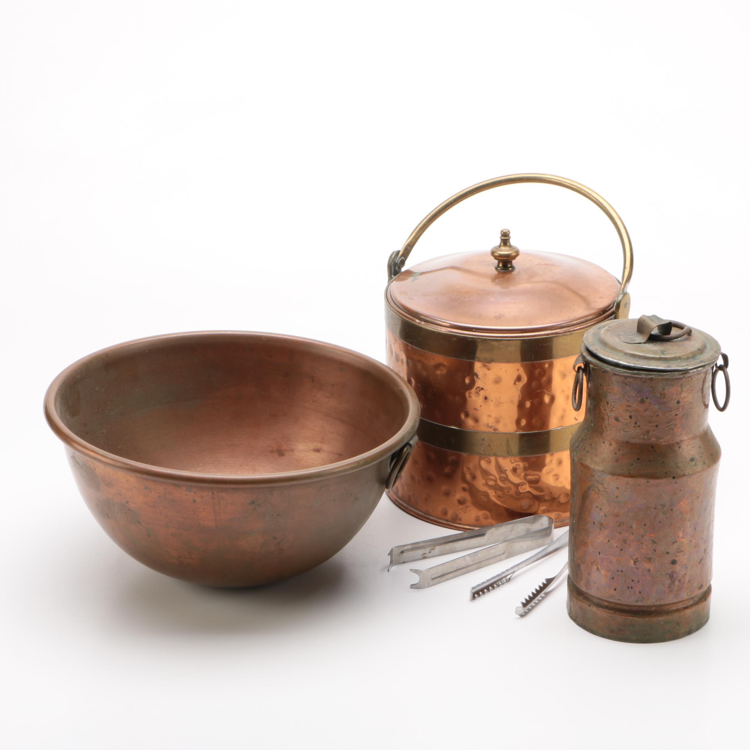 Vintage Copper Serveware featuring Colonial Virginia