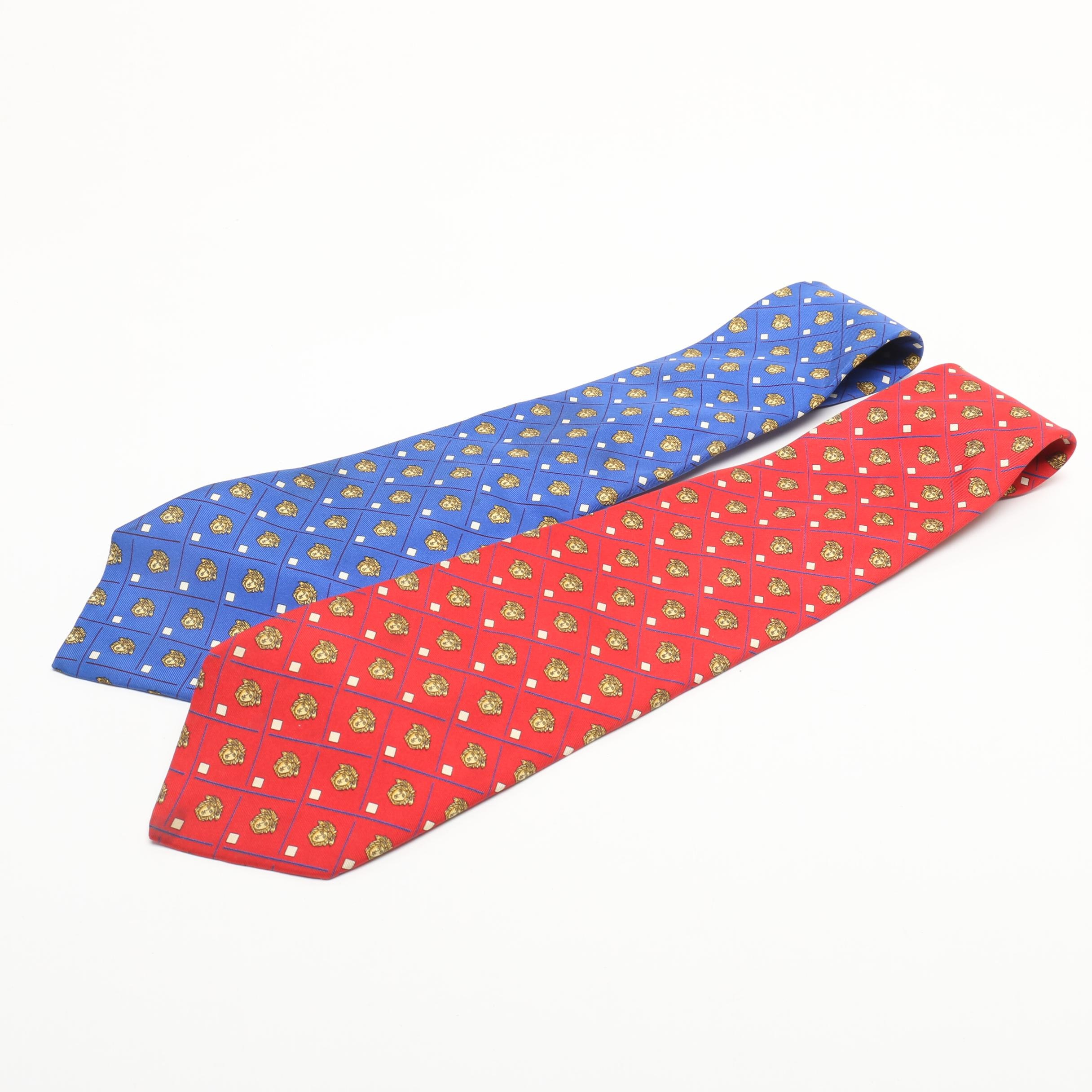 Men's Gianni Versace Silk Print Neckties
