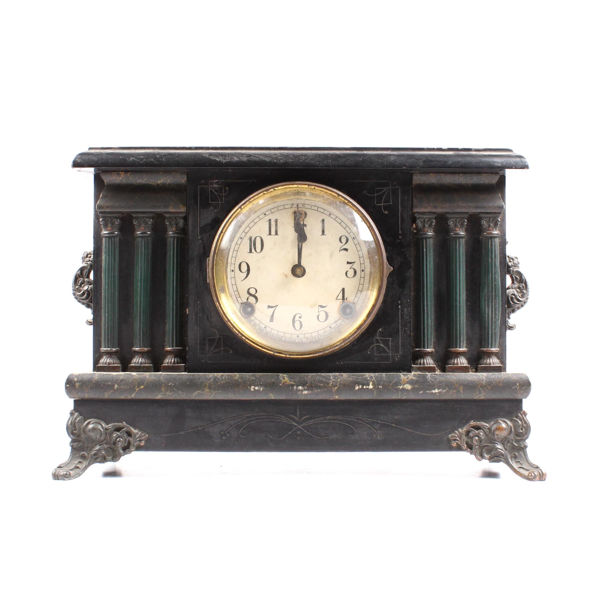 Antique Sessions Mantel Clock