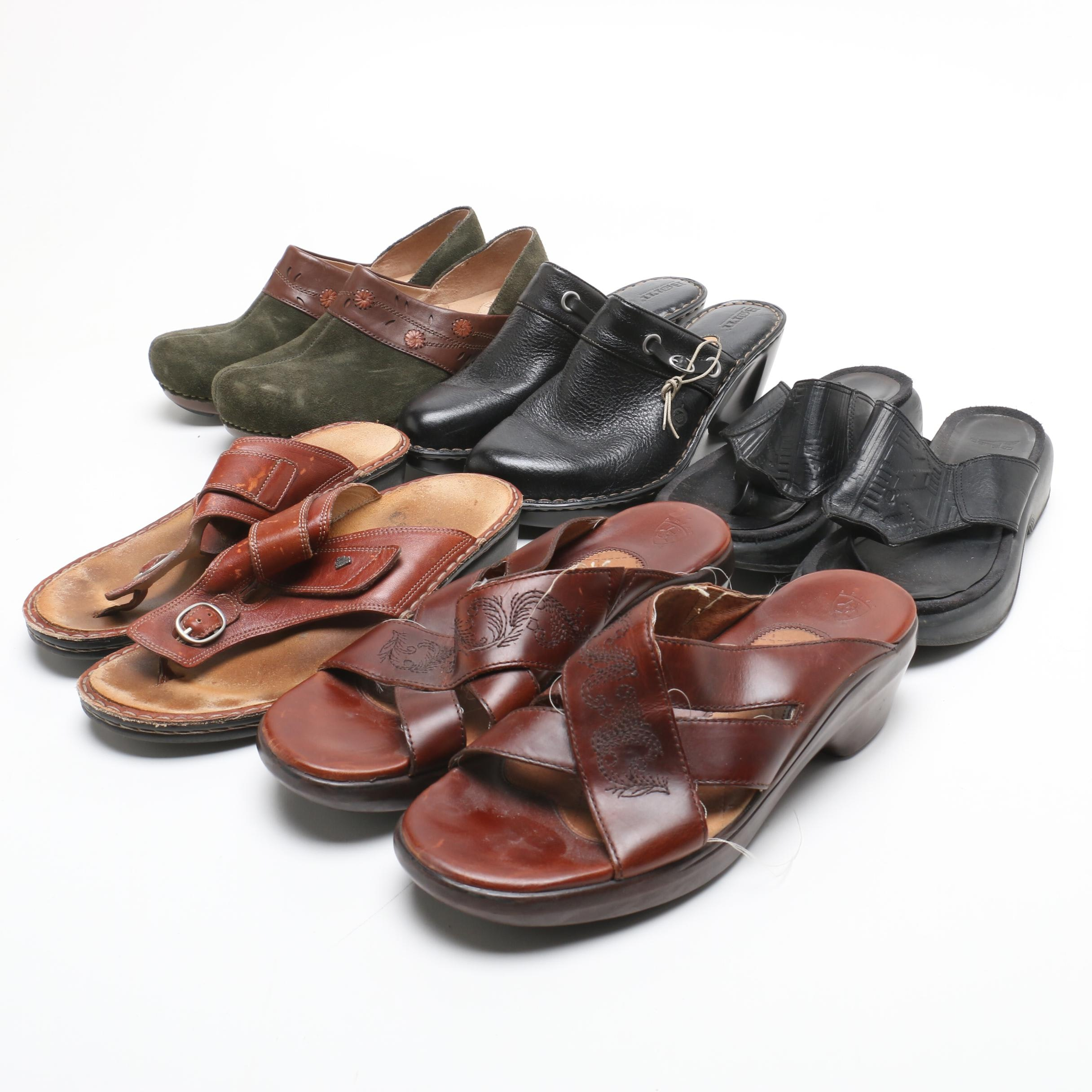 Dansko, Børn, Ariat and Finn Comfort Leather Sandals and Clogs