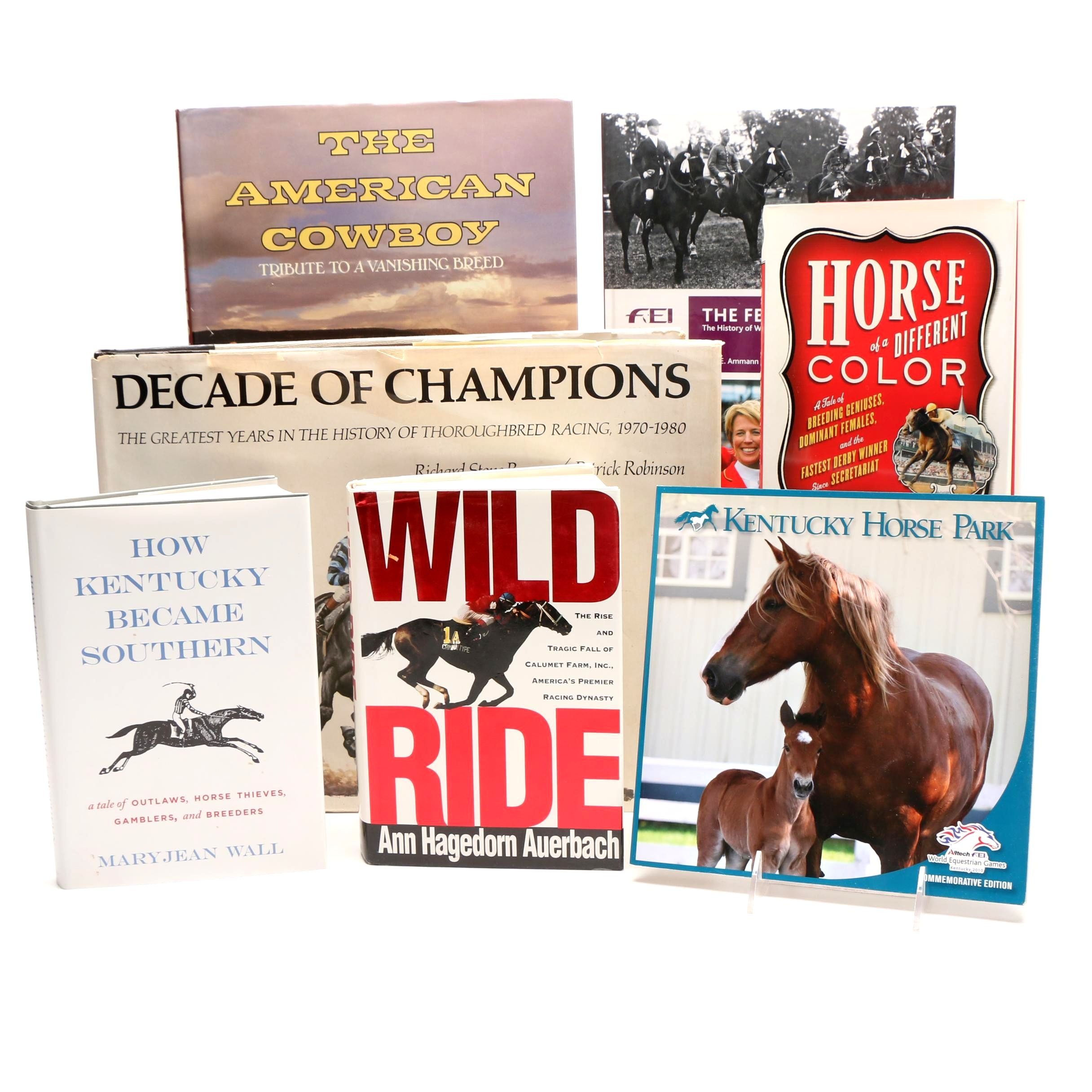 "Horses and Horse Racing Books including Signed ""The American Cowboy"""