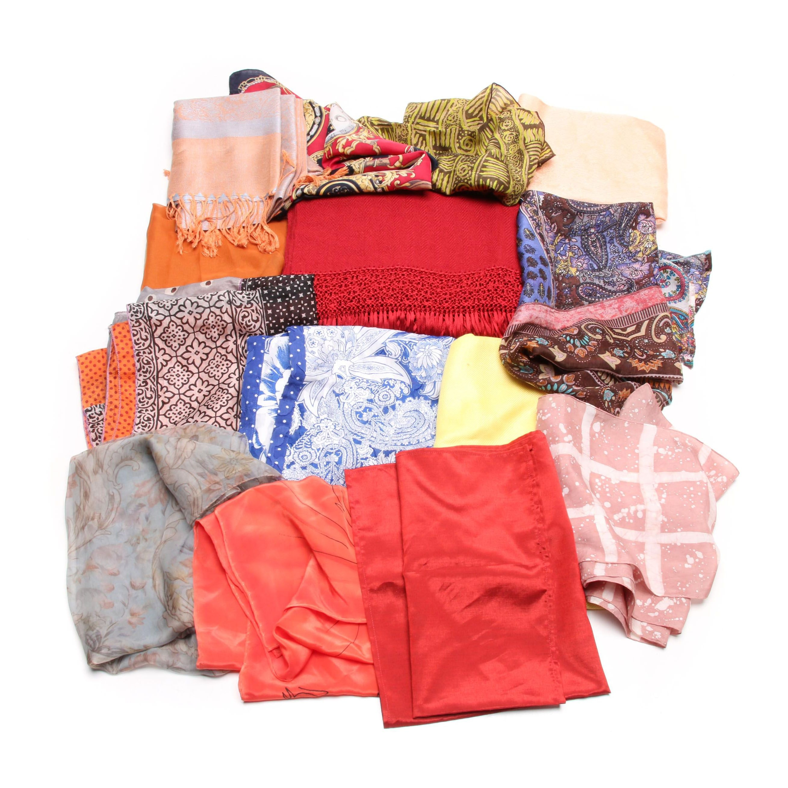 Scarves Including Warmi Ajayu, Judy Kushner, Basha, Silk Blend and More