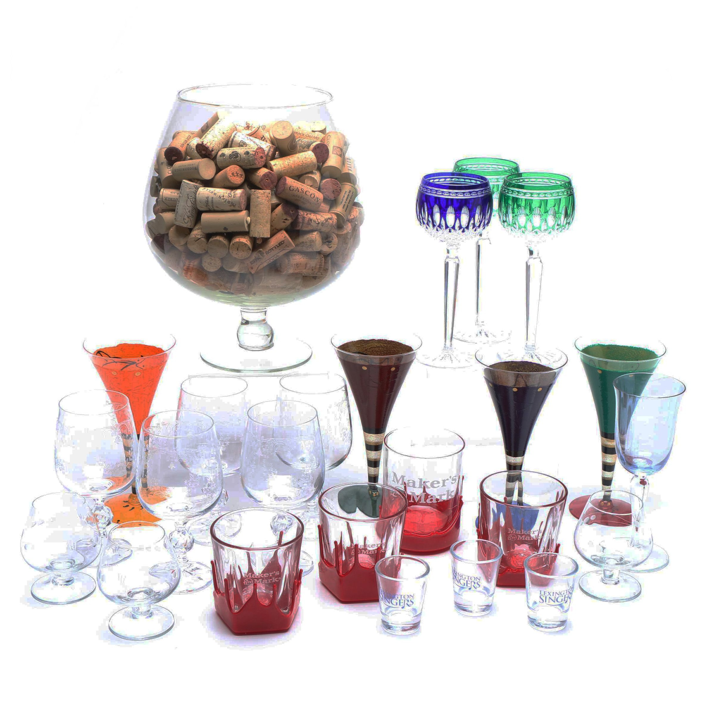 Assorted Glassware and Drinkware Including Waterford