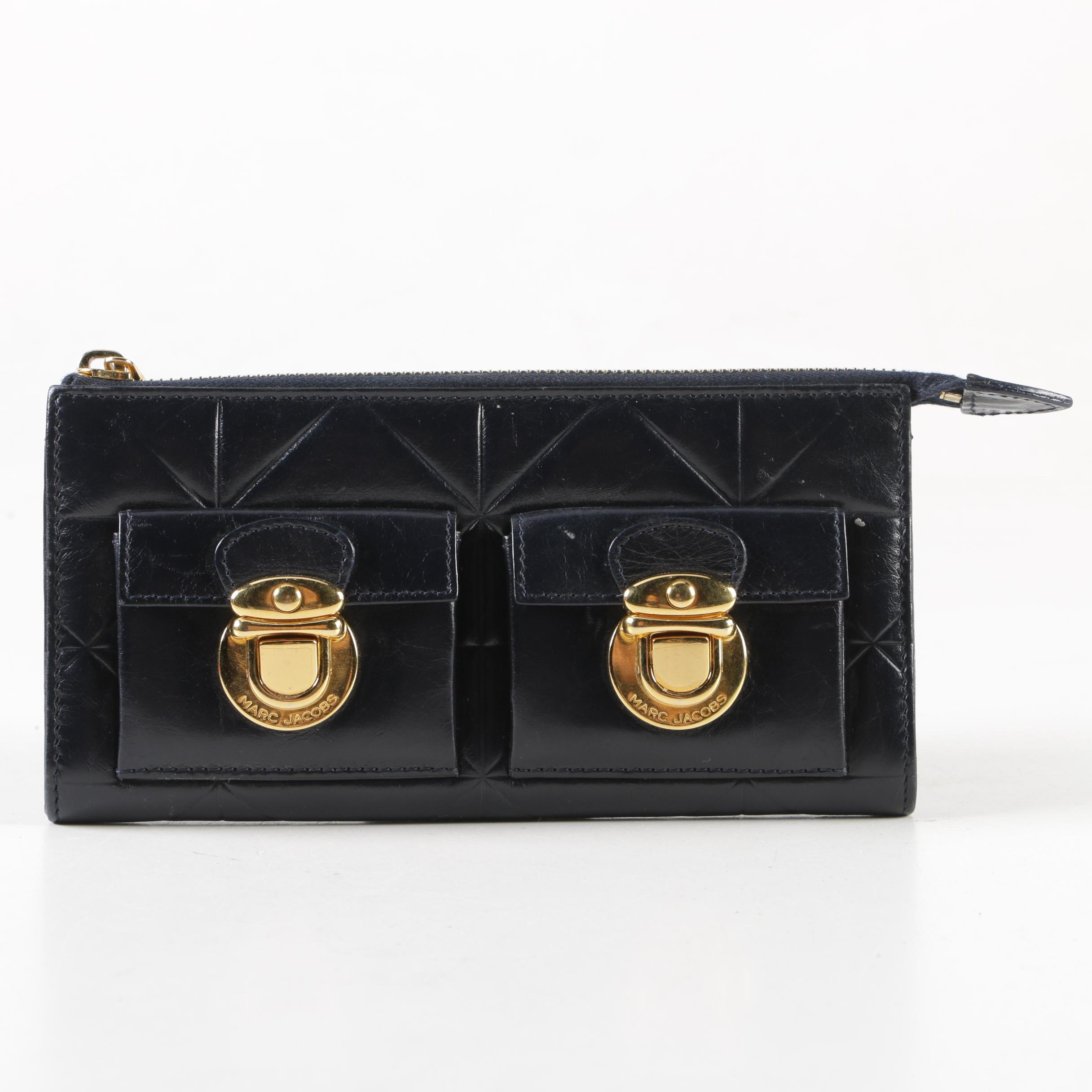 Marc Jacobs Quilted Black Leather Wallet