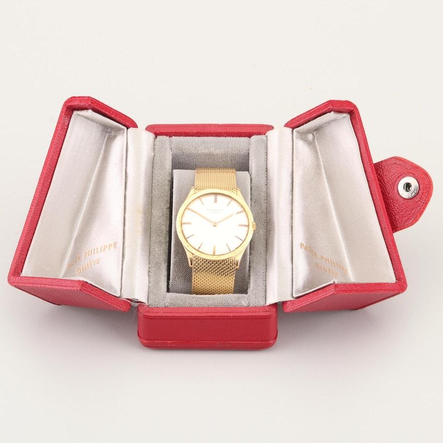 Patek Philippe Genève Swiss 18K Yellow Gold Wristwatch