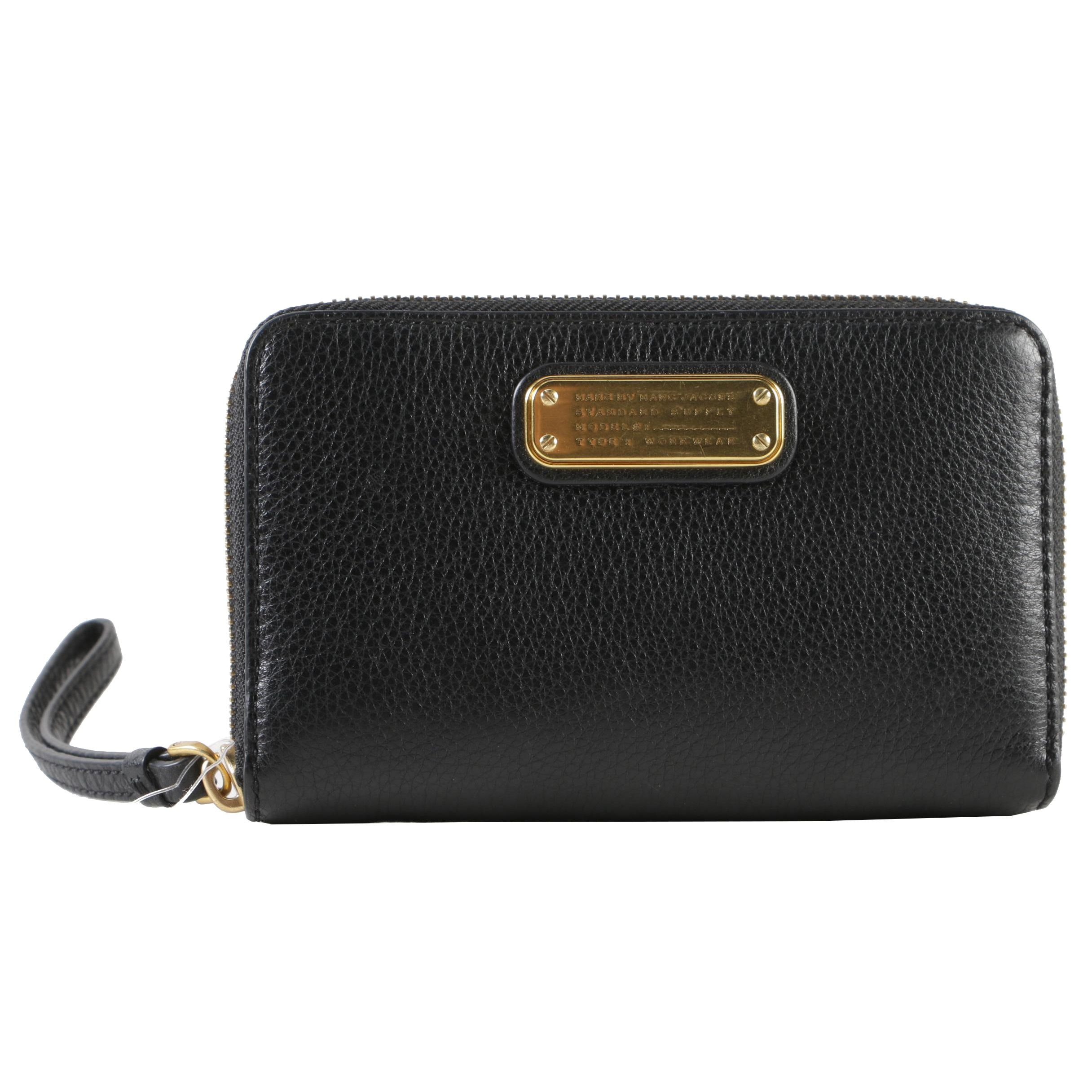 Marc by Marc Jacobs Black Pebbled Leather Zip Wallet