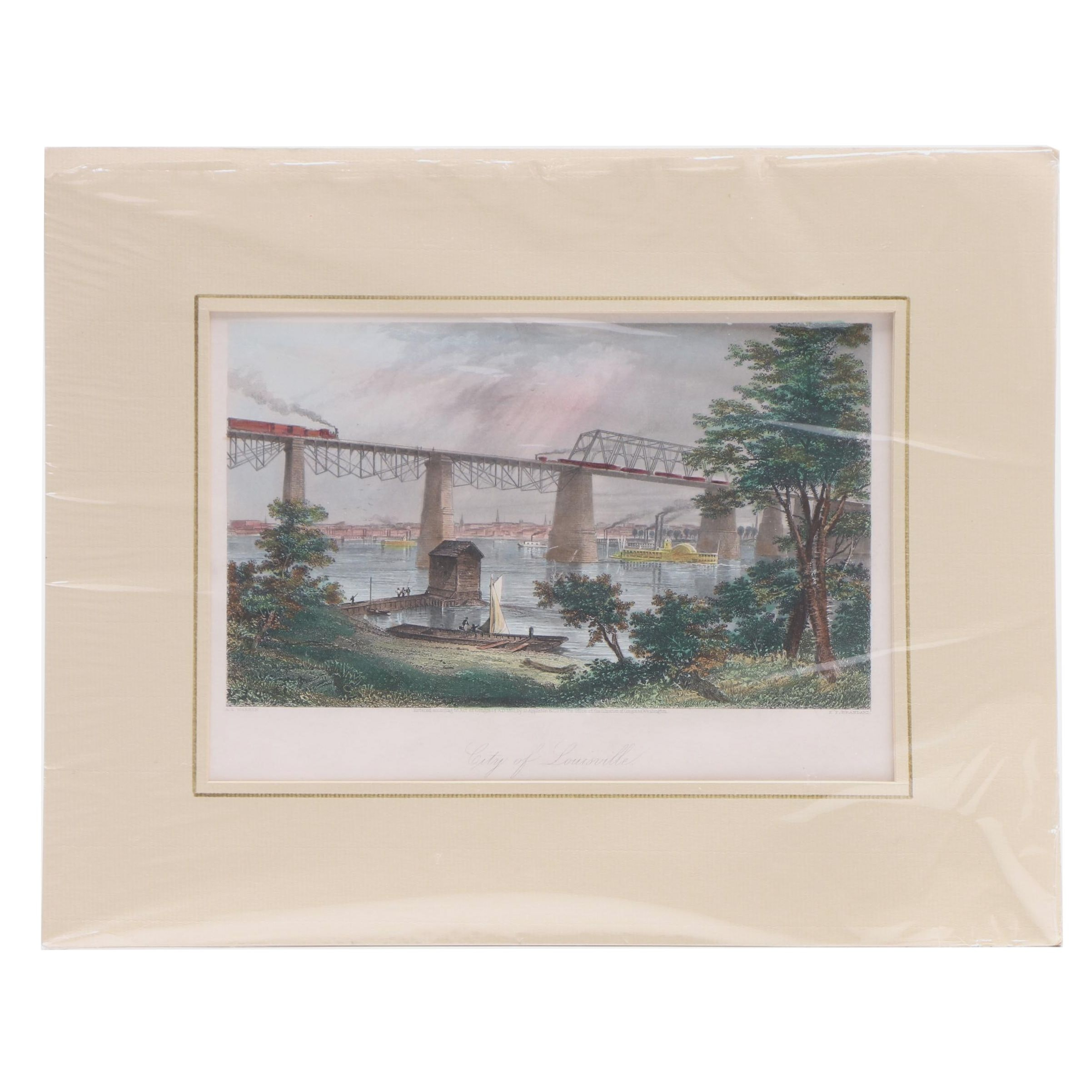 Hand Colored Steel Engraving After A. C. Warren by E. P. Brandard