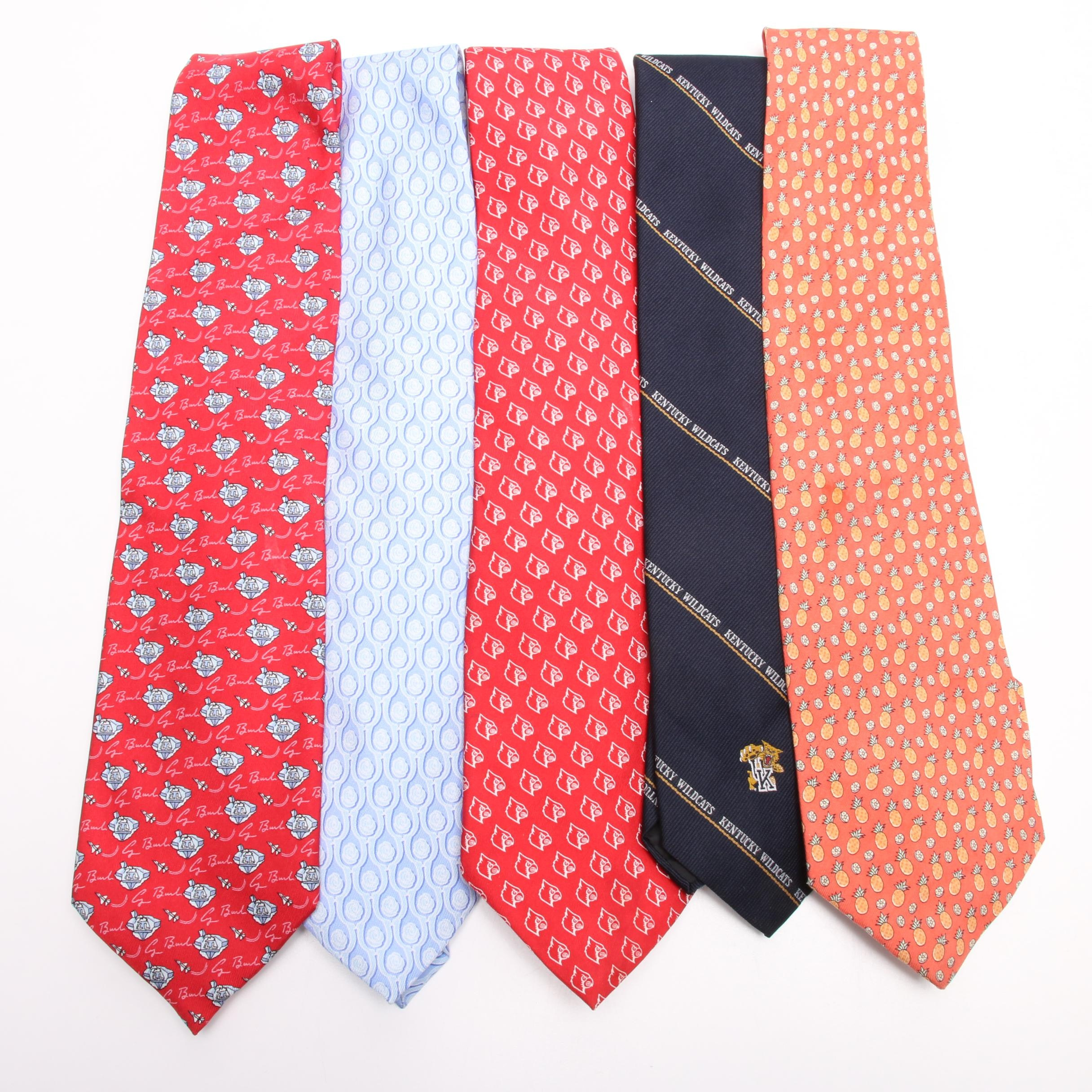 "Silk Ties from Vineyard Vines ""University of Louisville"" and ""Kentucky Wildcats"""