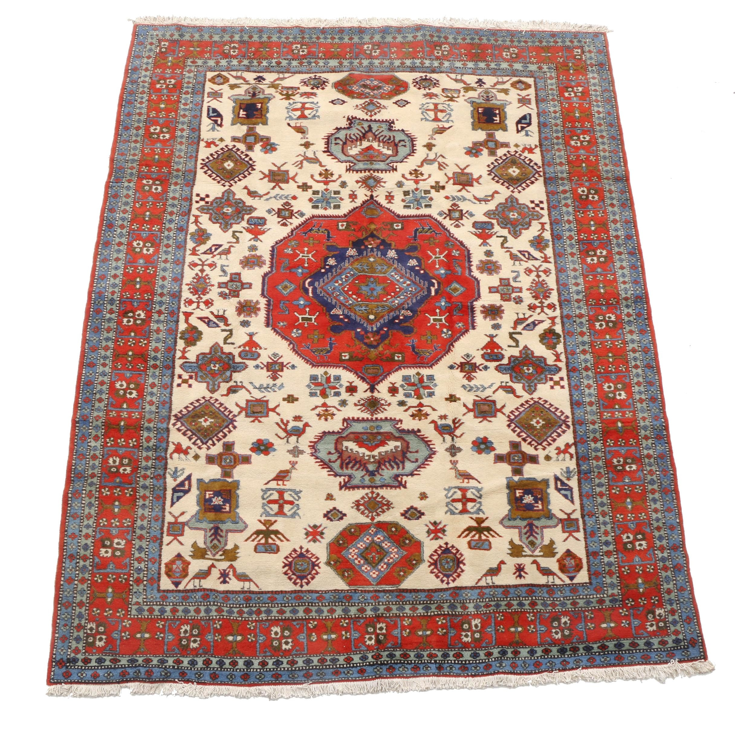 Hand-Knotted Persian Ardebil Room-Sized Rug