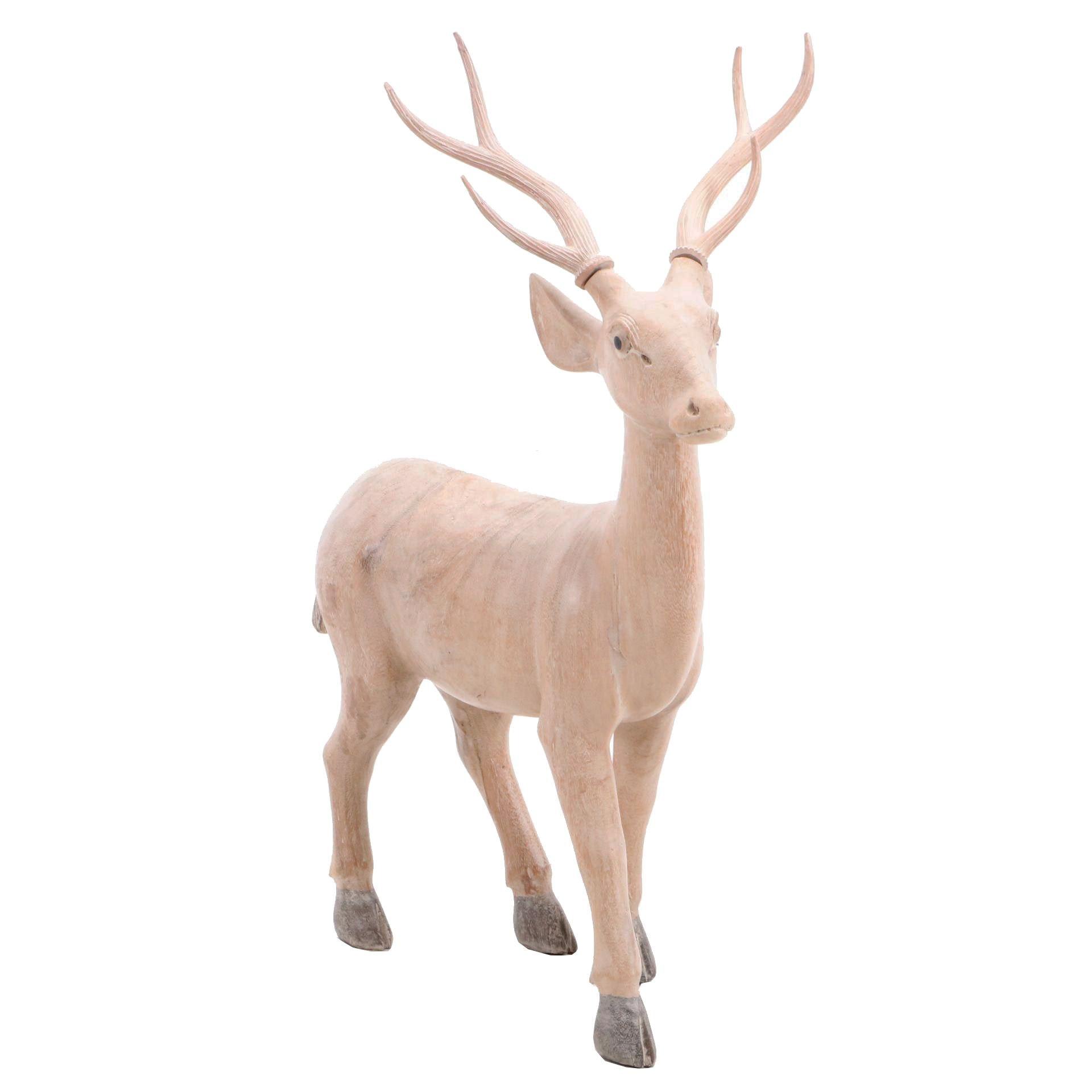 Painted Reindeer Statuette