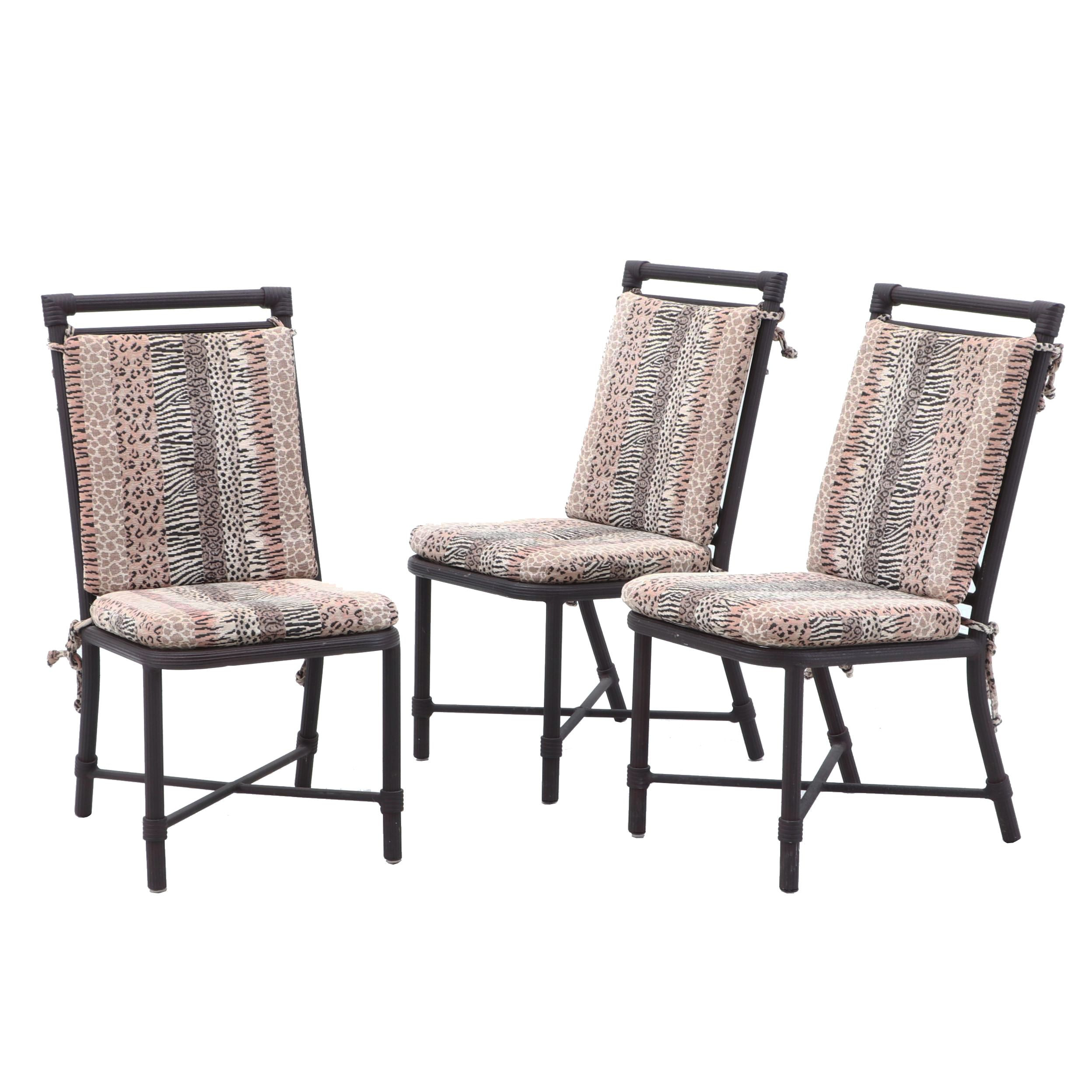 Three Metal Side Chairs with Cushions by Pompeii Furniture