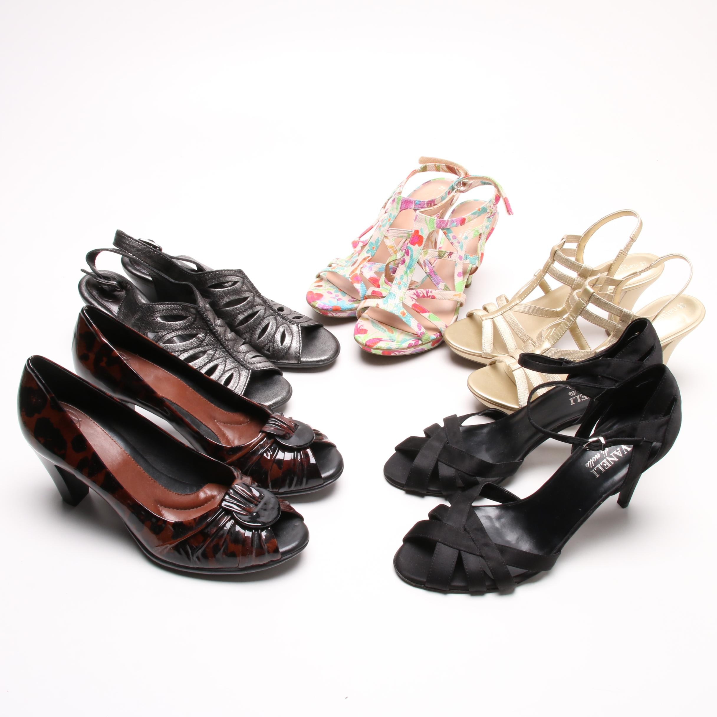 Naturalizer, Vaneli di notte and Nurture High-Heeled Shoes