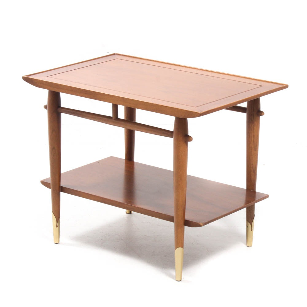 Lane Mid Century Modern Two-Tier Table