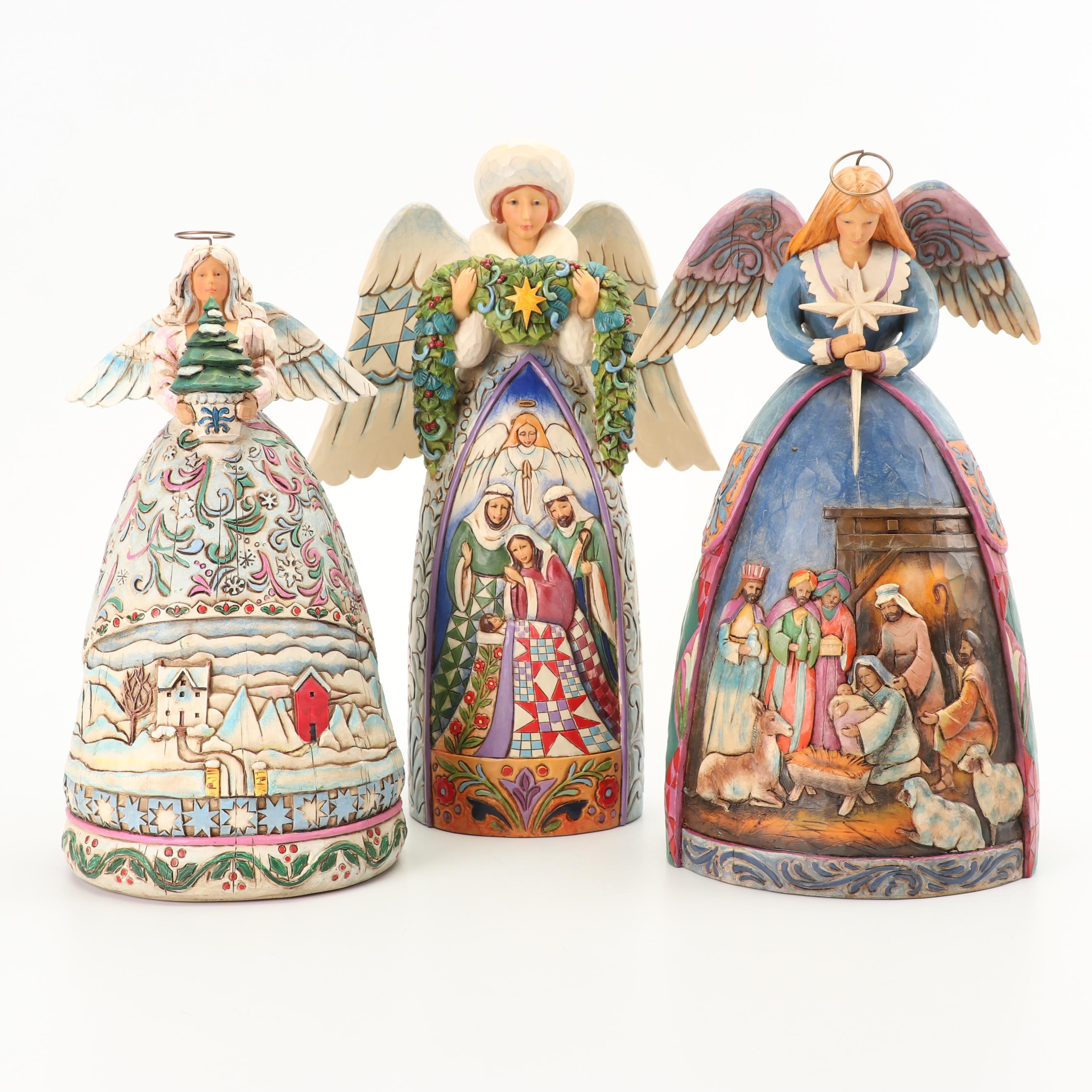 Jim Shore Heartwood Creek Angel Figurines