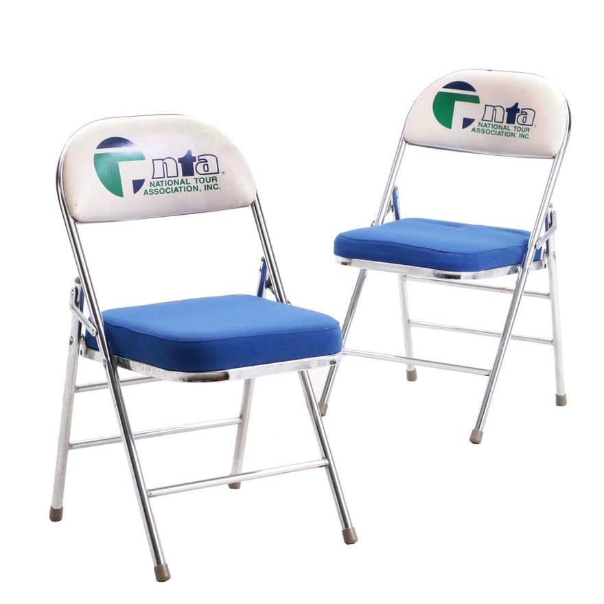 Two Arnold Metal Nta Folding Chairs Personally Owned By Jim And