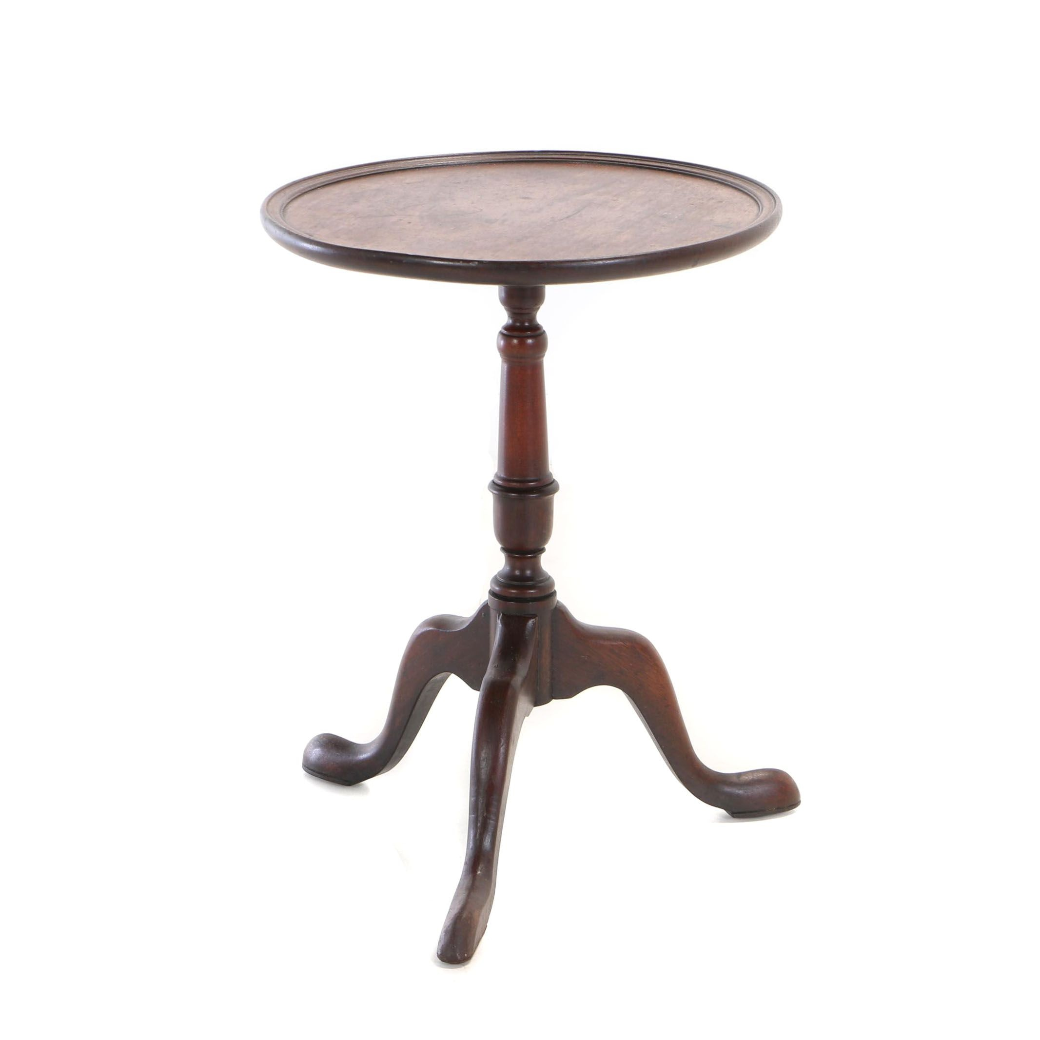 George III Style Mahogany Tripod Table by Baker Furniture, 20th Century