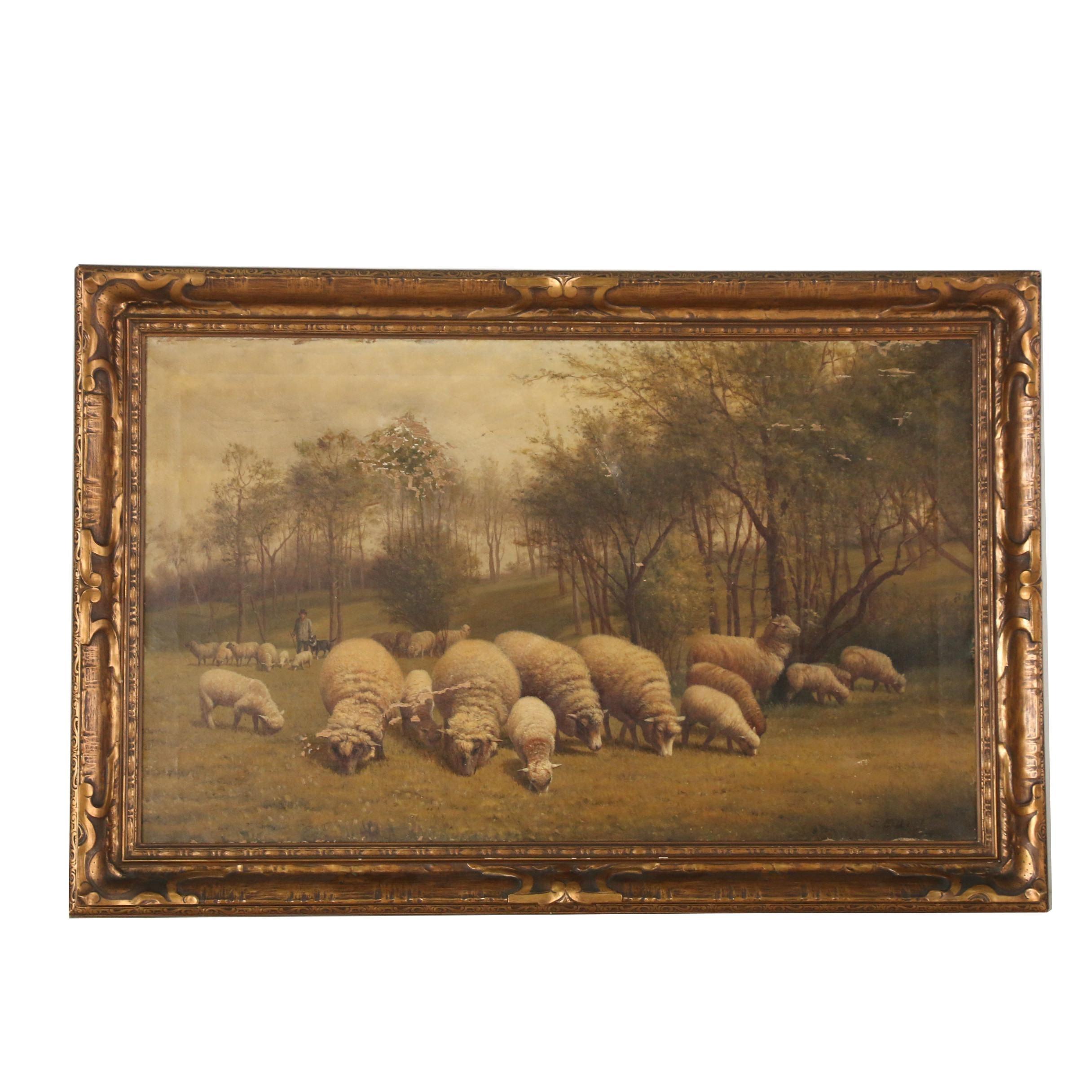 C. Gilbret Oil Painting