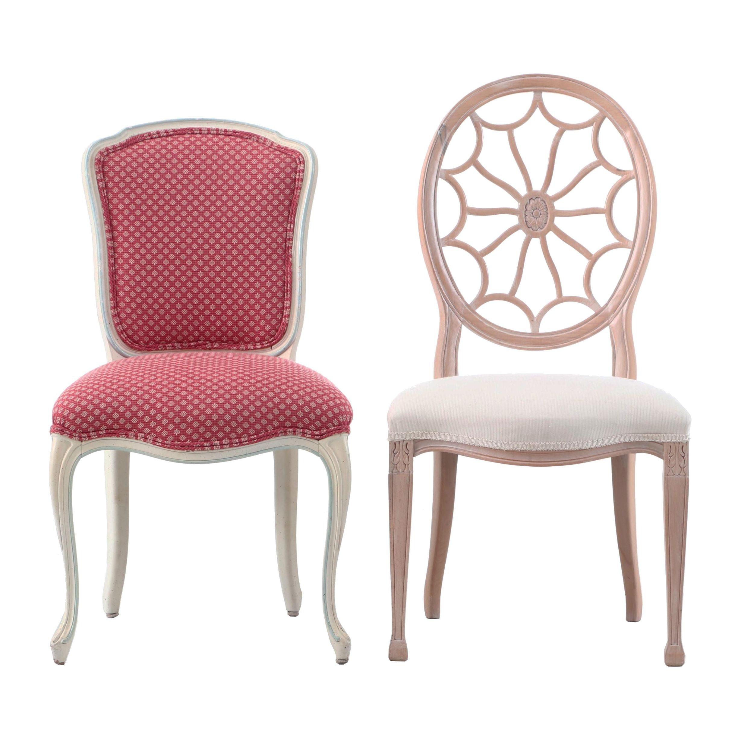 Two Upholstered Side Chairs
