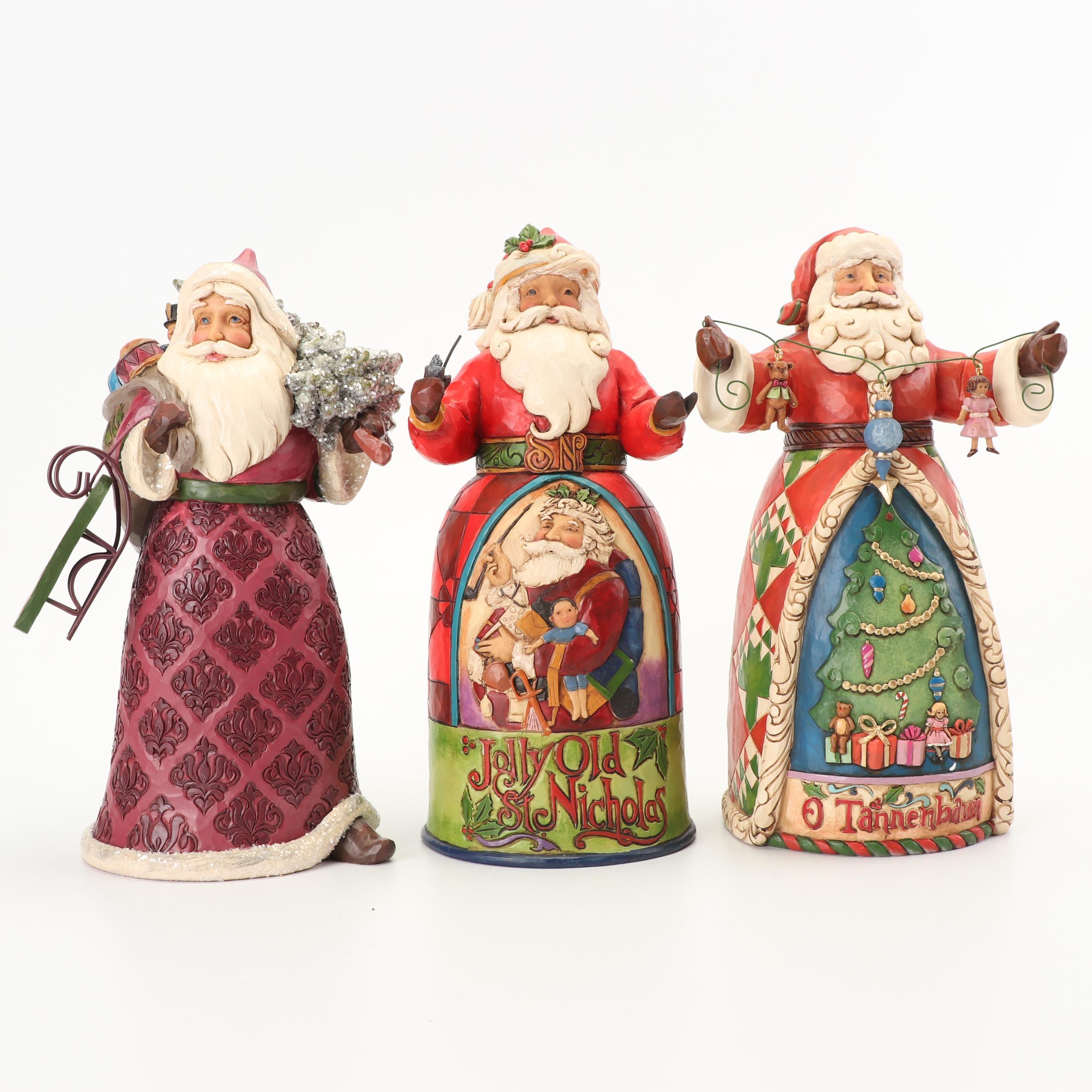 Jim Shore Heartwood Creek Santa Claus Figurines
