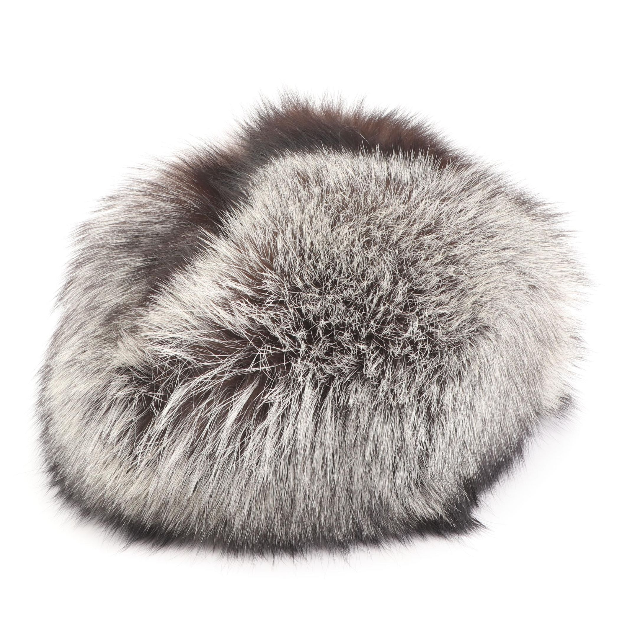 "Vintage Russian ""Bektop"" Fox Fur Cloche"