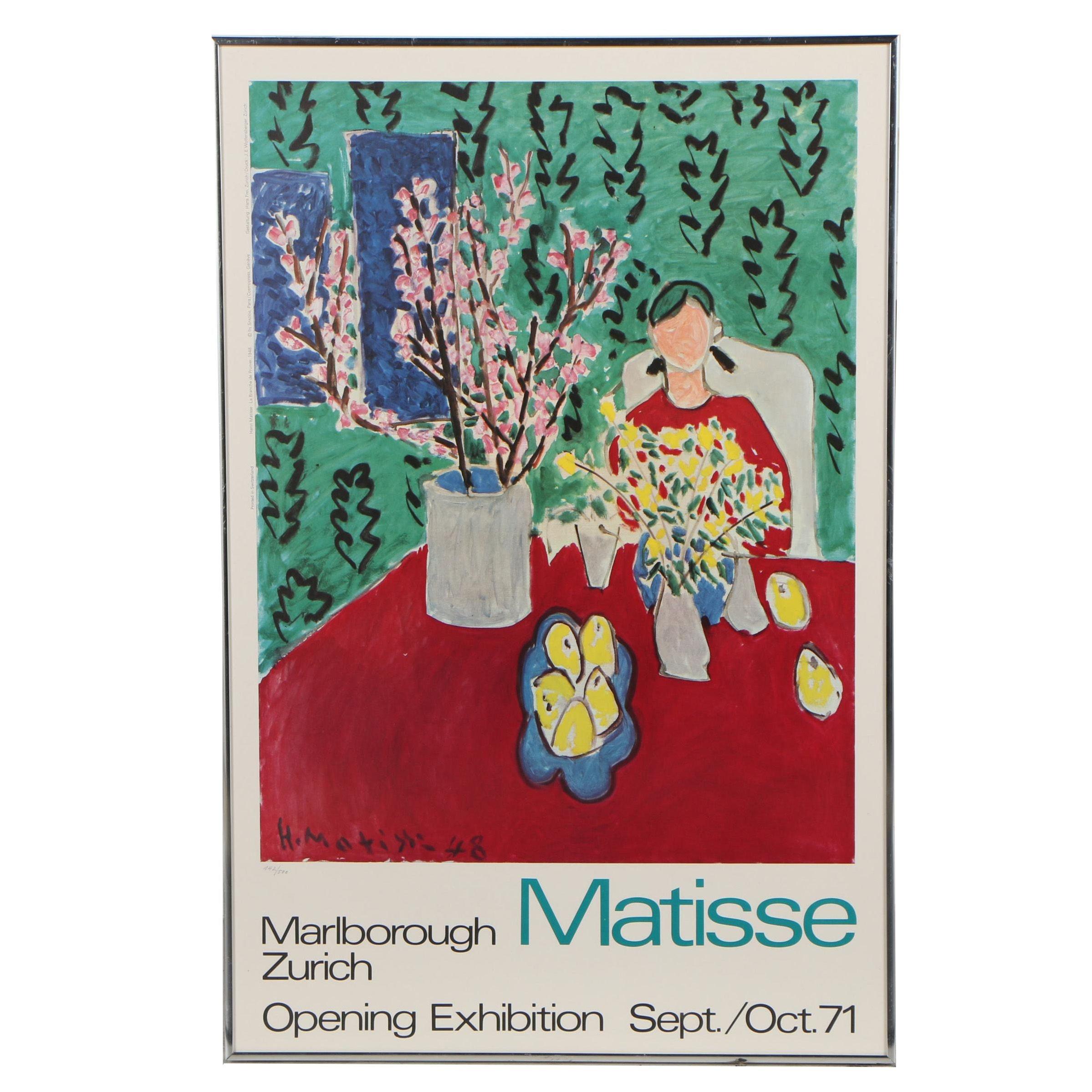"""Offset Lithograph Exhibition Poster after Henri Matisse """"La Branche de Prunier"""""""