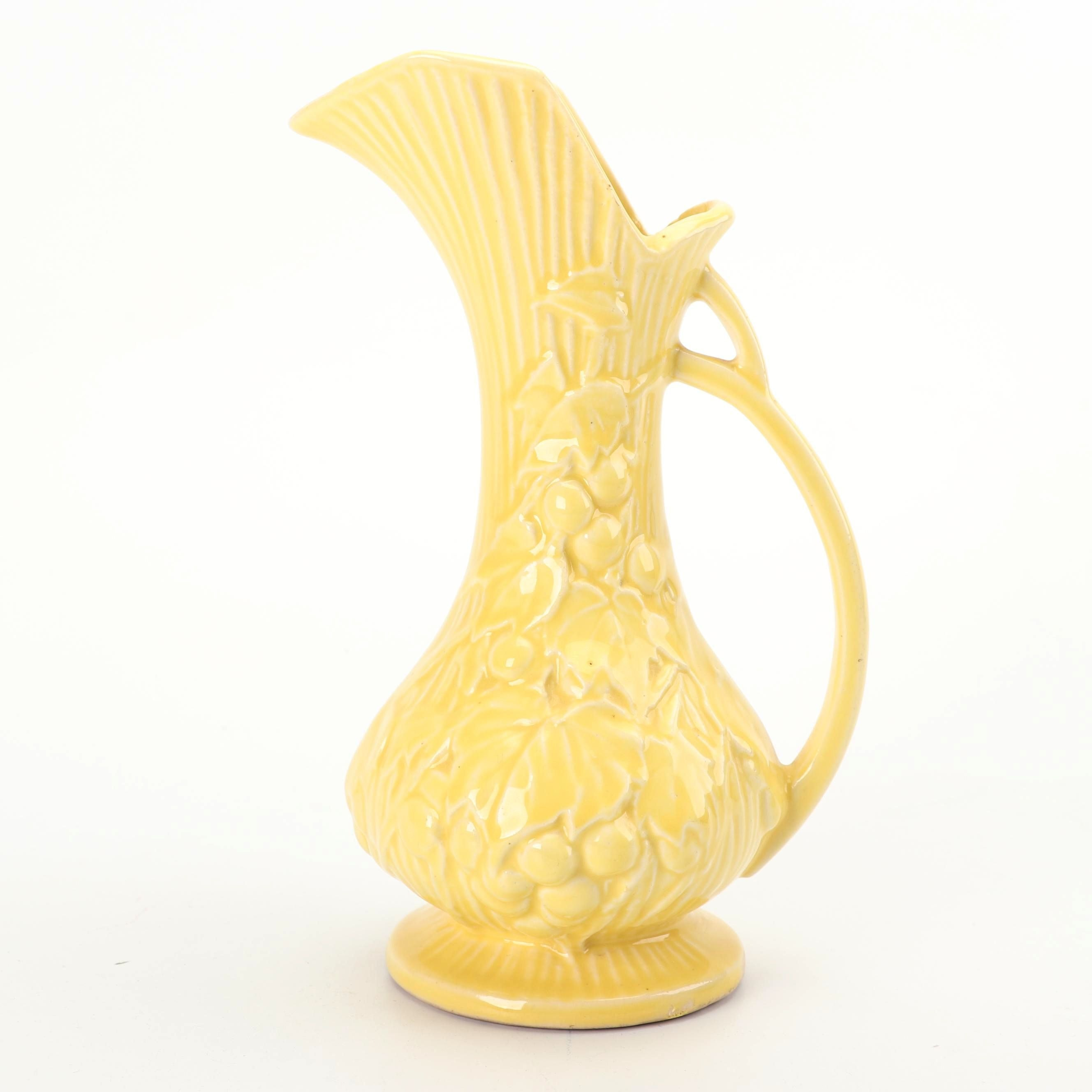 "McCoy ""Grapes and Leaves"" Ceramic Ewer, circa 1940"