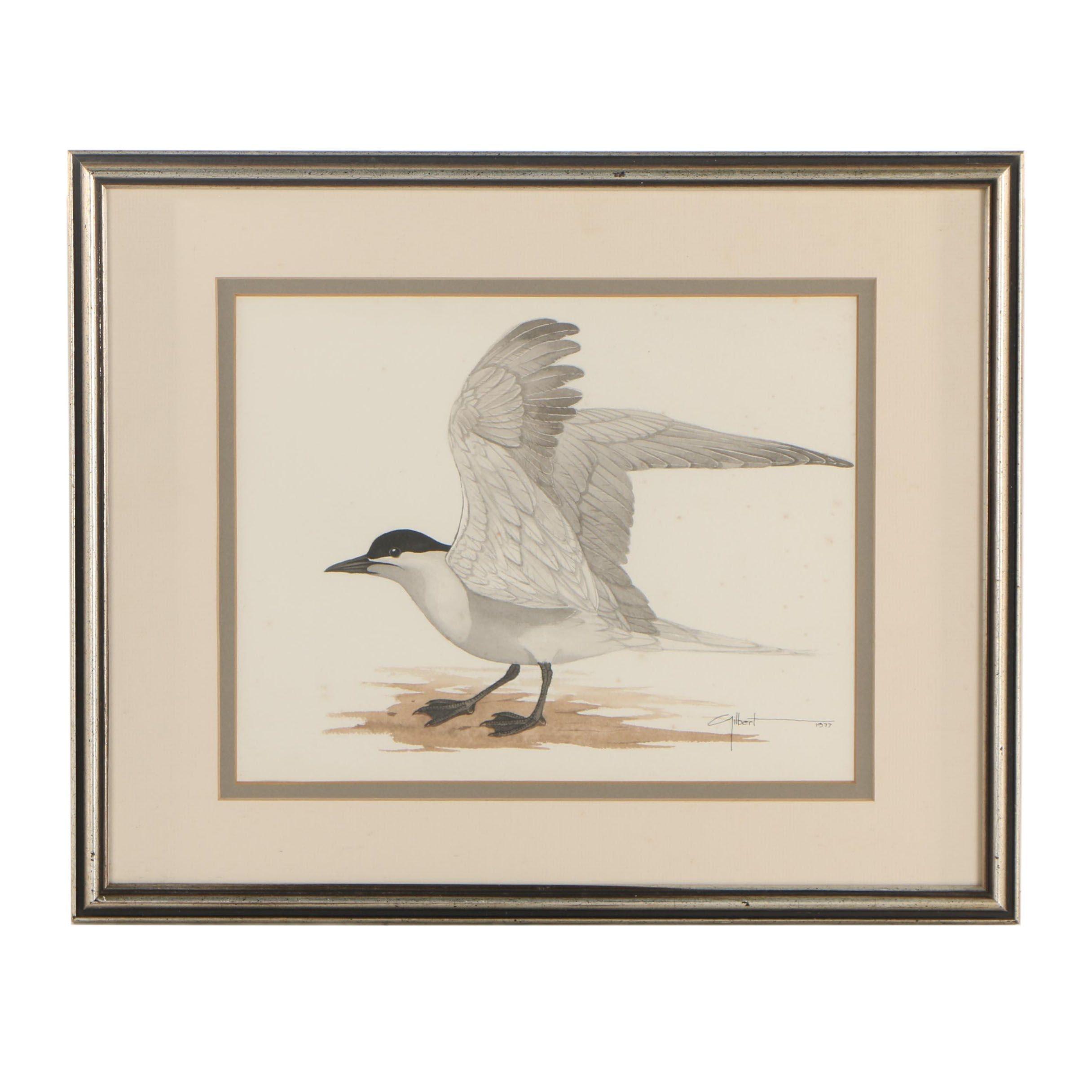 George Edward Gilbert Watercolor Painting