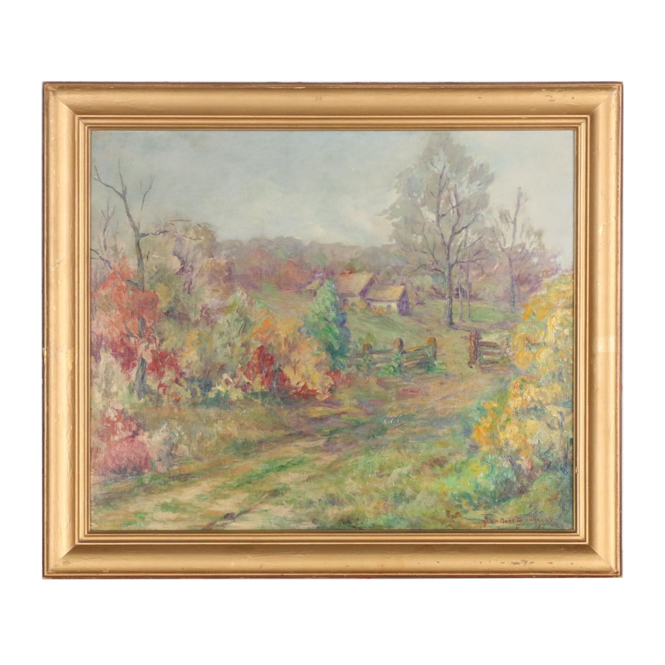 Helen Marr Zimmerman 1937 Oil Painting