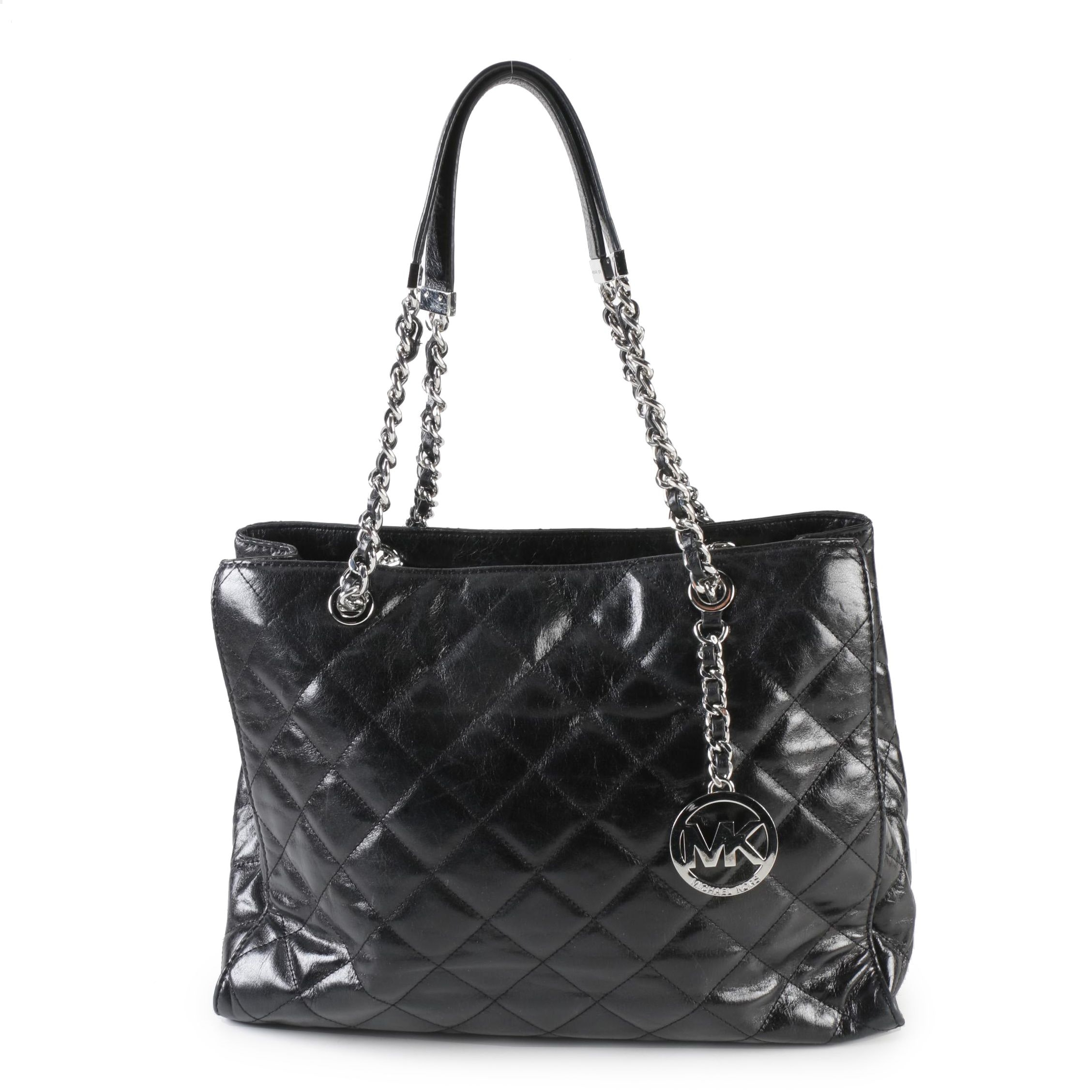 MICHAEL Michael Kors Black Quilted Leather Shoulder Bag