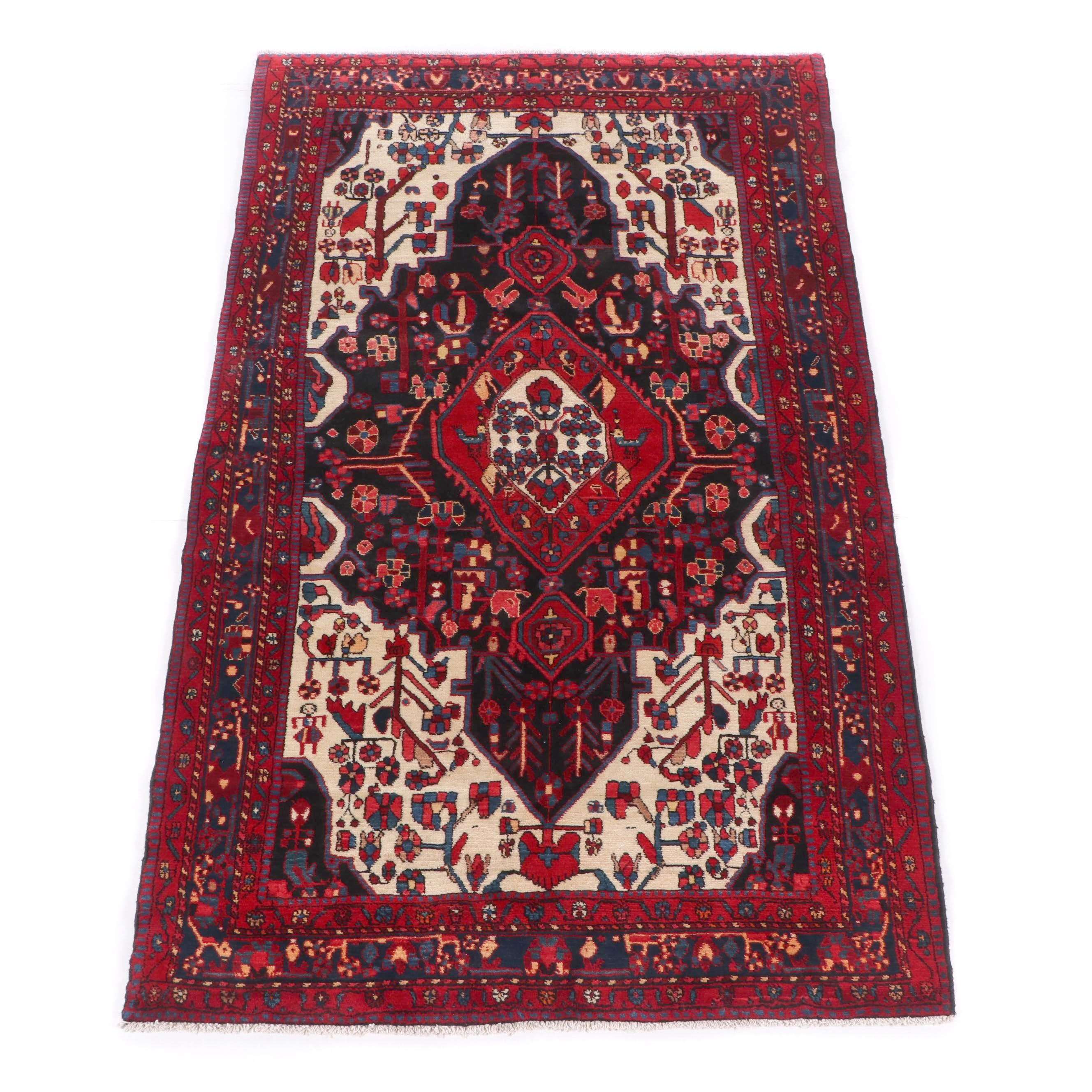 Hand-Knotted Persian Ushvan Wool Rug