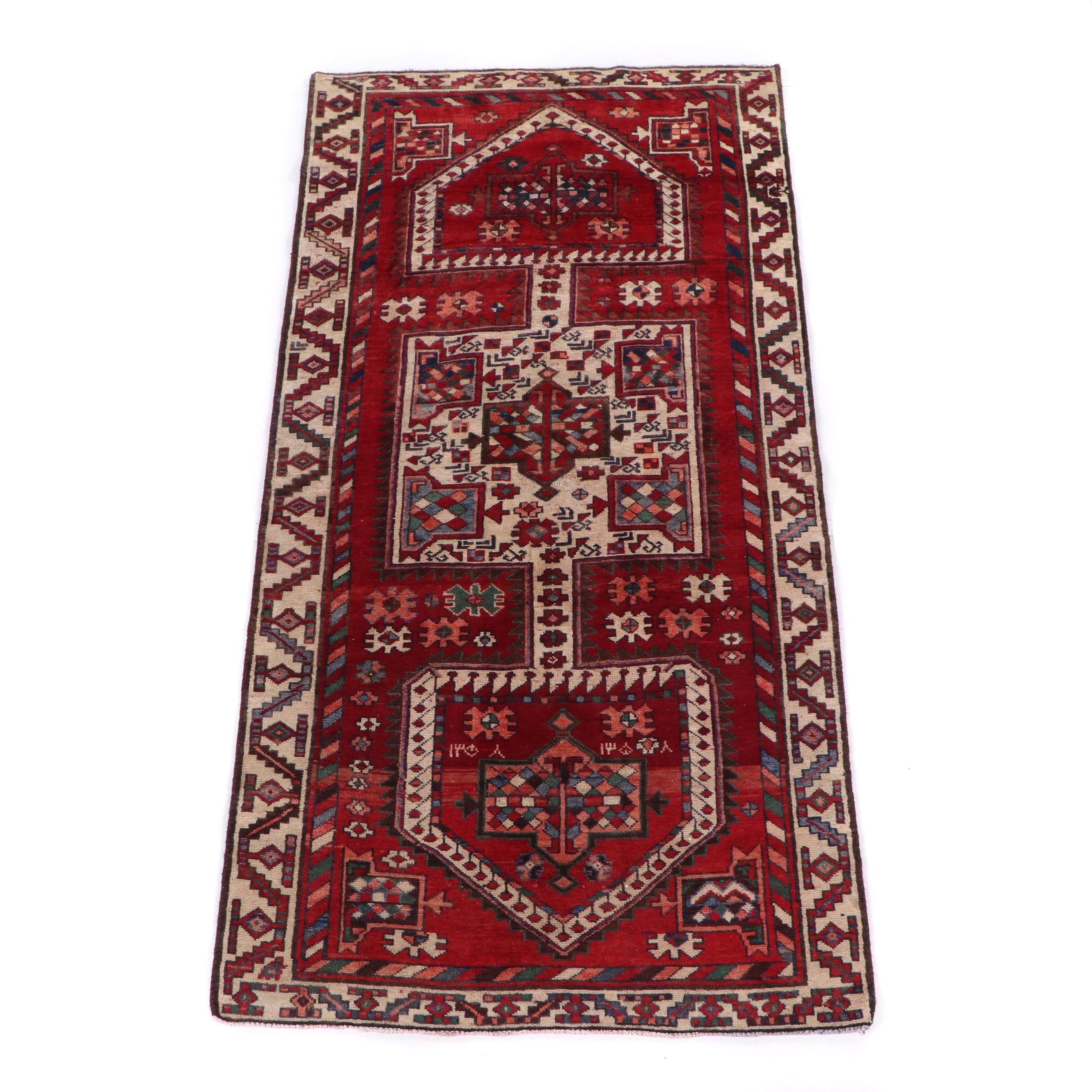 Hand-Knotted Baku Wool Rug
