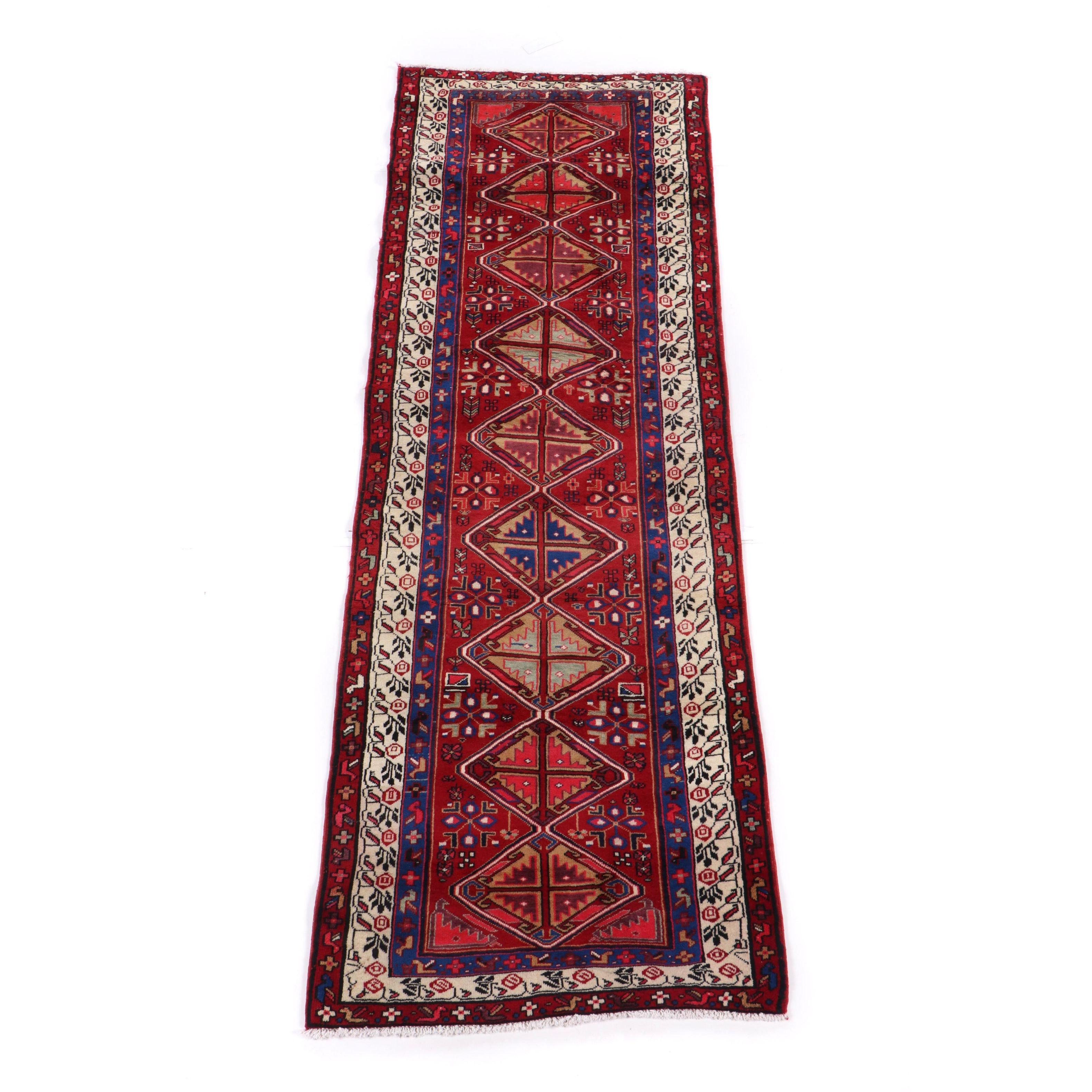 Hand-Knotted Northwest Persian Kurdish Wool Runner