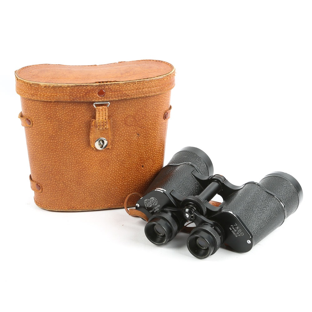 Vintage Kalimar Binoculars in Leather Case
