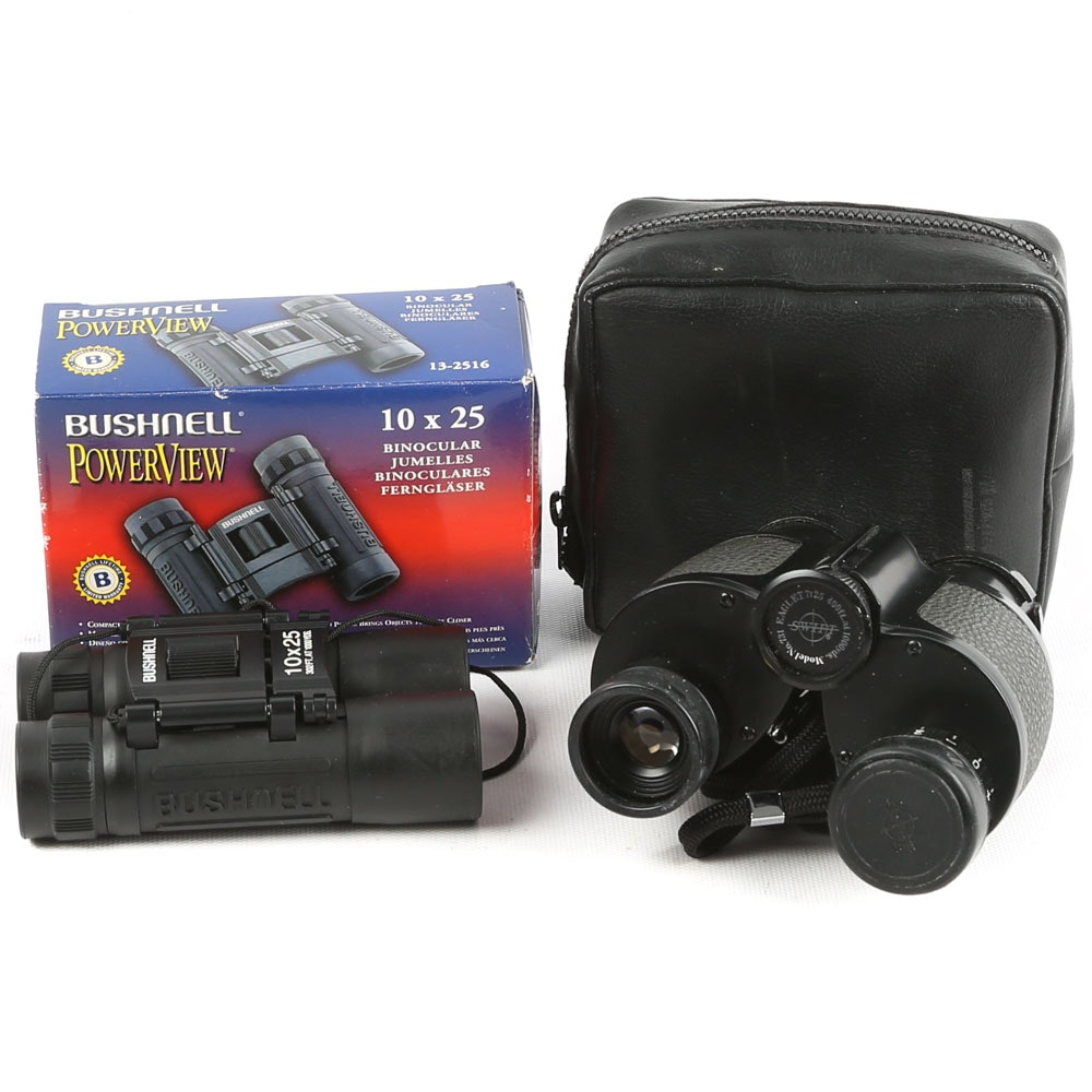 Bushnell and Swift Compact Binoculars
