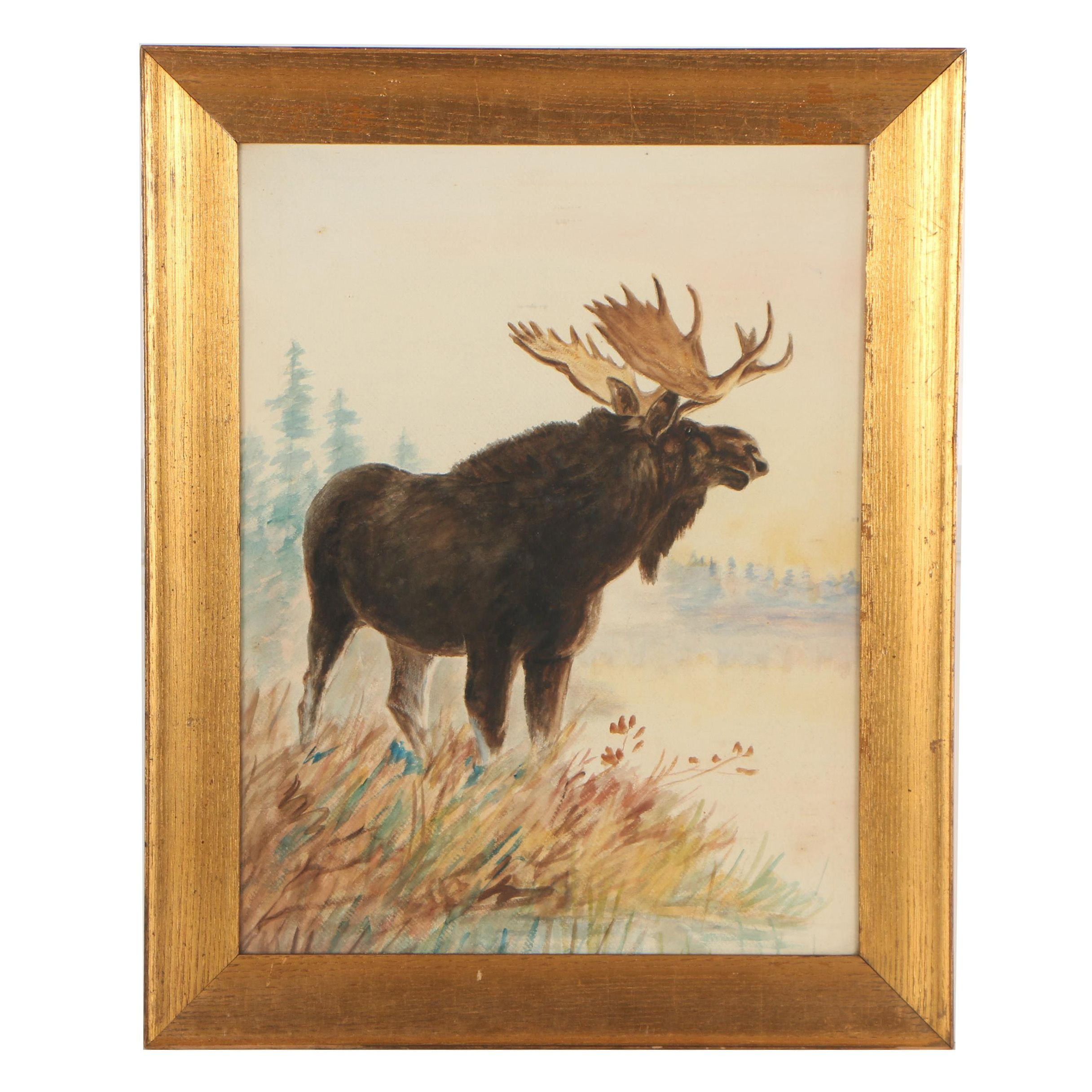 Early 20th Century Watercolor Painting