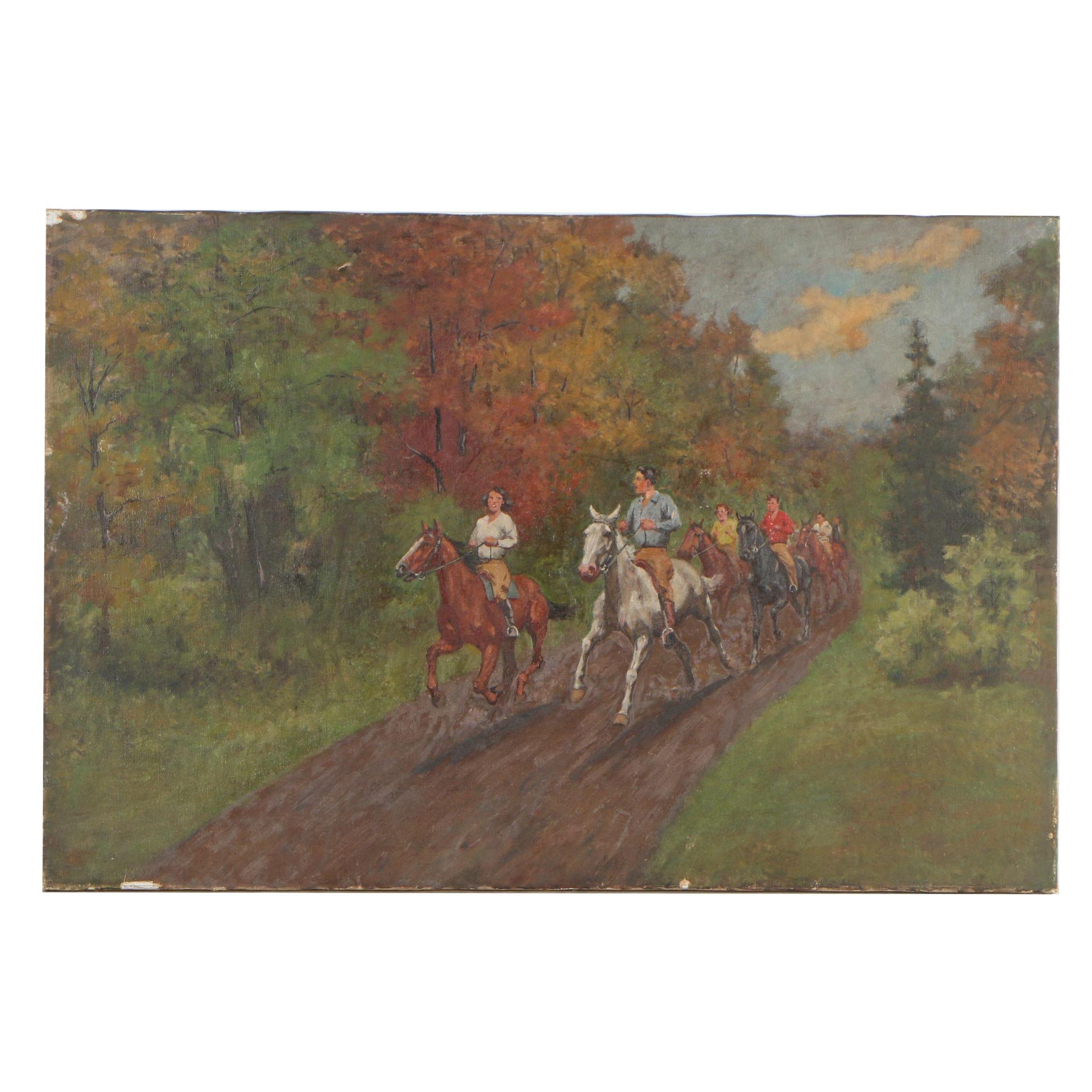 Paul Herzel Oil Painting