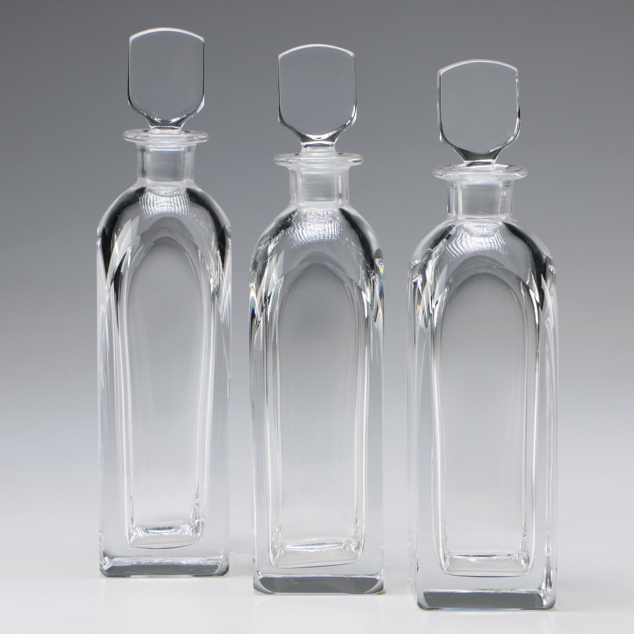 Orrefors Art Glass Decanters by Edvard Hald