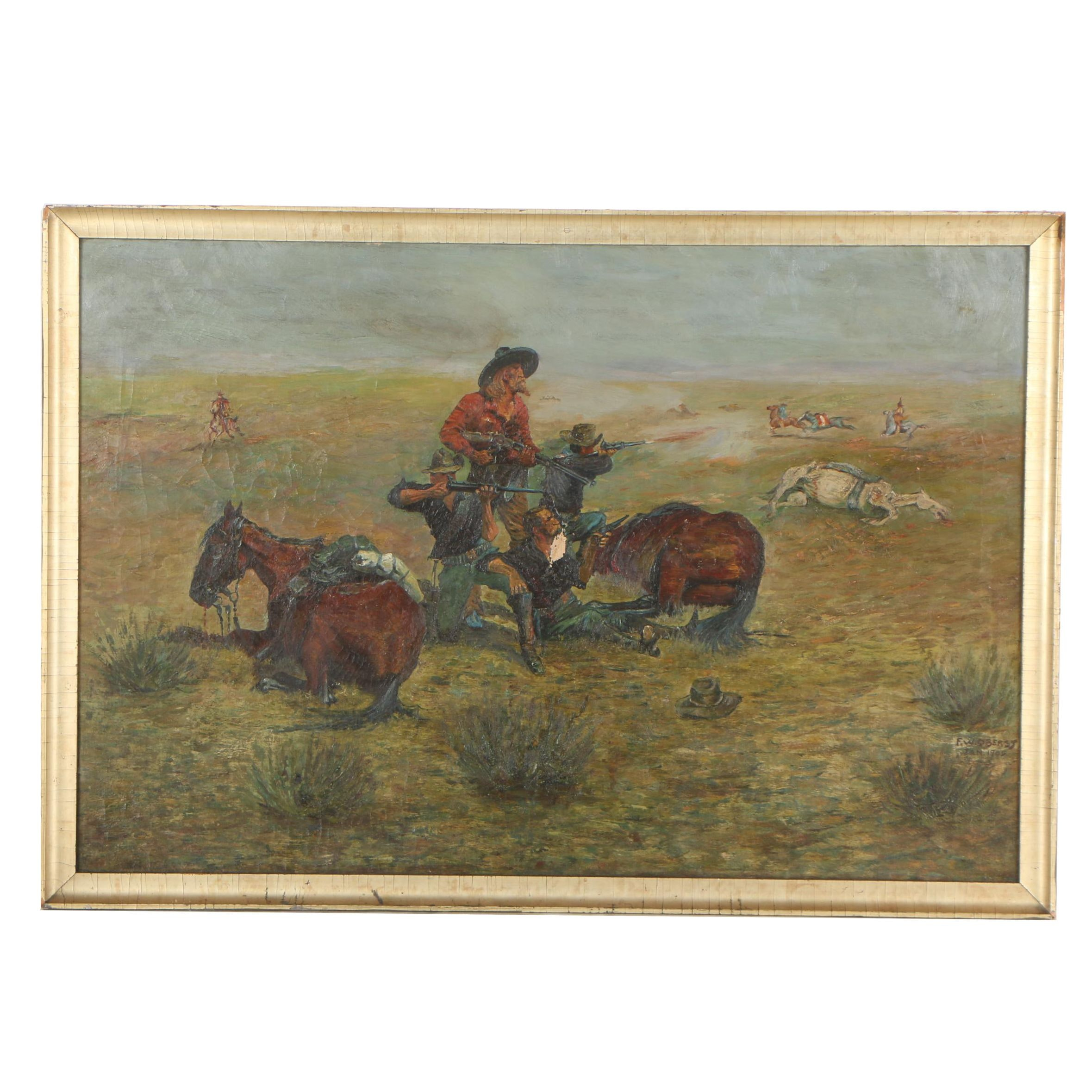 F. W. Oberst 1905 Oil Painting